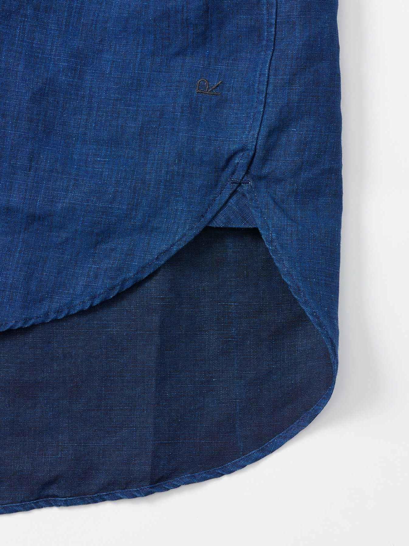 WH Indigo Linen Pin-tuck 908 Shirt-10