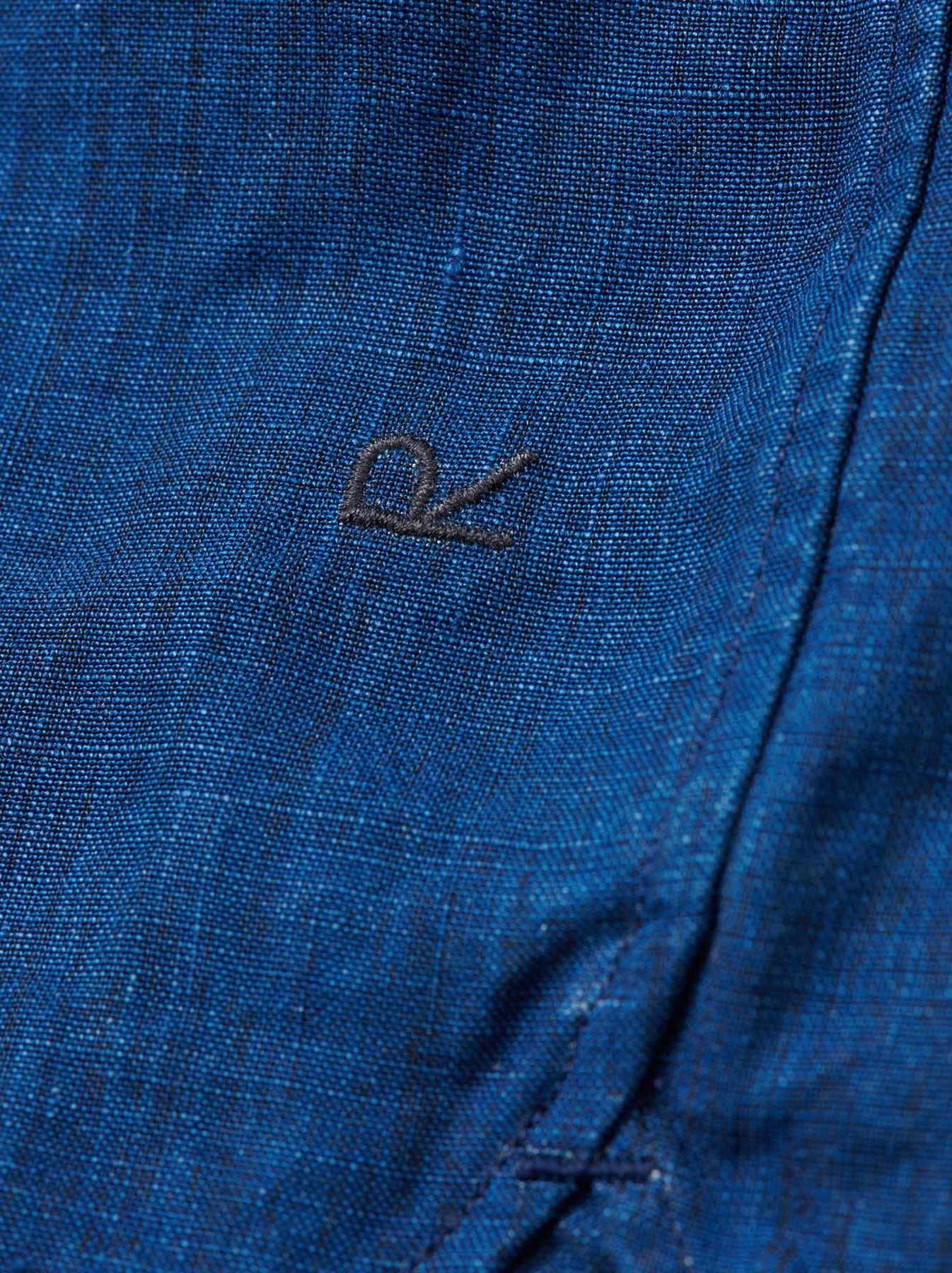 WH Indigo Linen Pin-tuck 908 Shirt-11