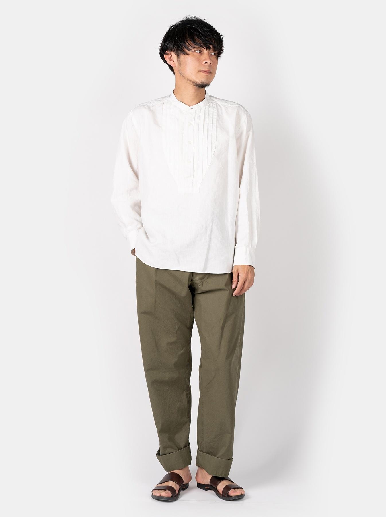WH Linen Pin-tuck 908 Shirt-2