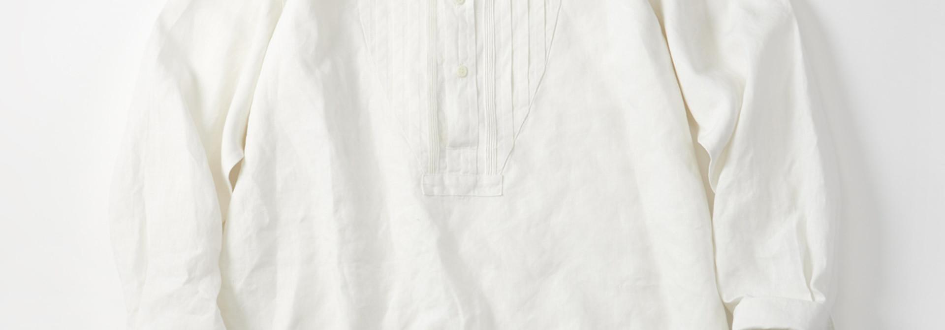 WH Linen Pin-tuck 908 Shirt