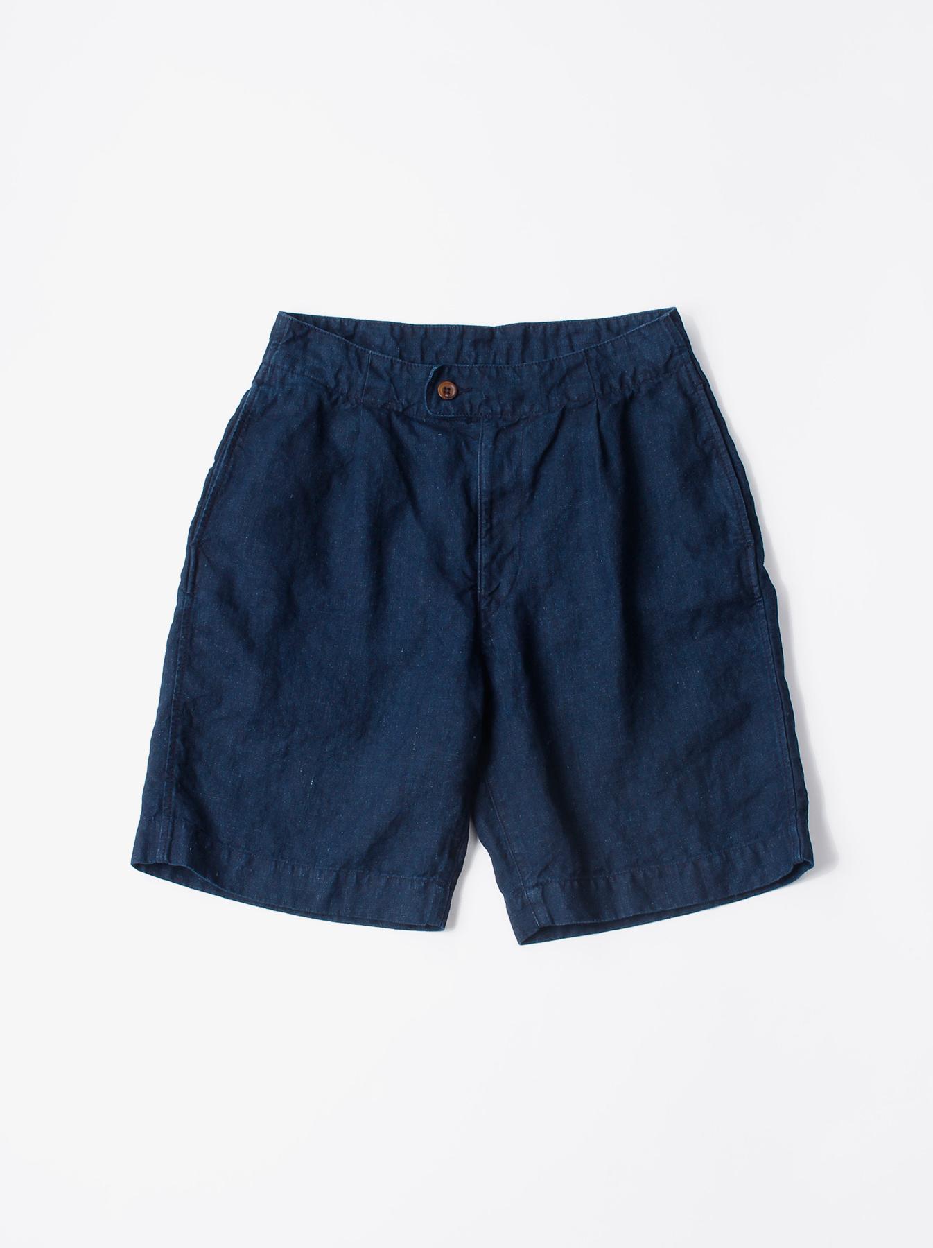 WH Indigo Doek Majotae Umiiloha 908 Short Pants-1