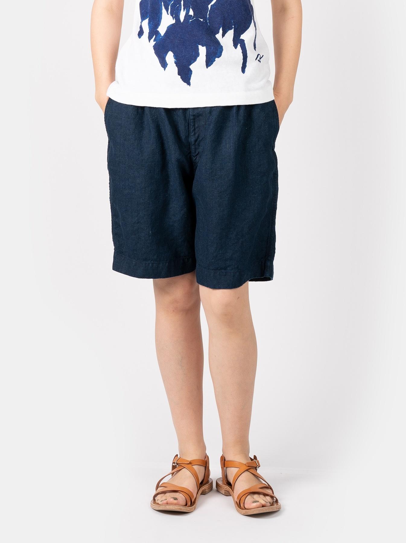 WH Indigo Doek Majotae Umiiloha 908 Short Pants-3
