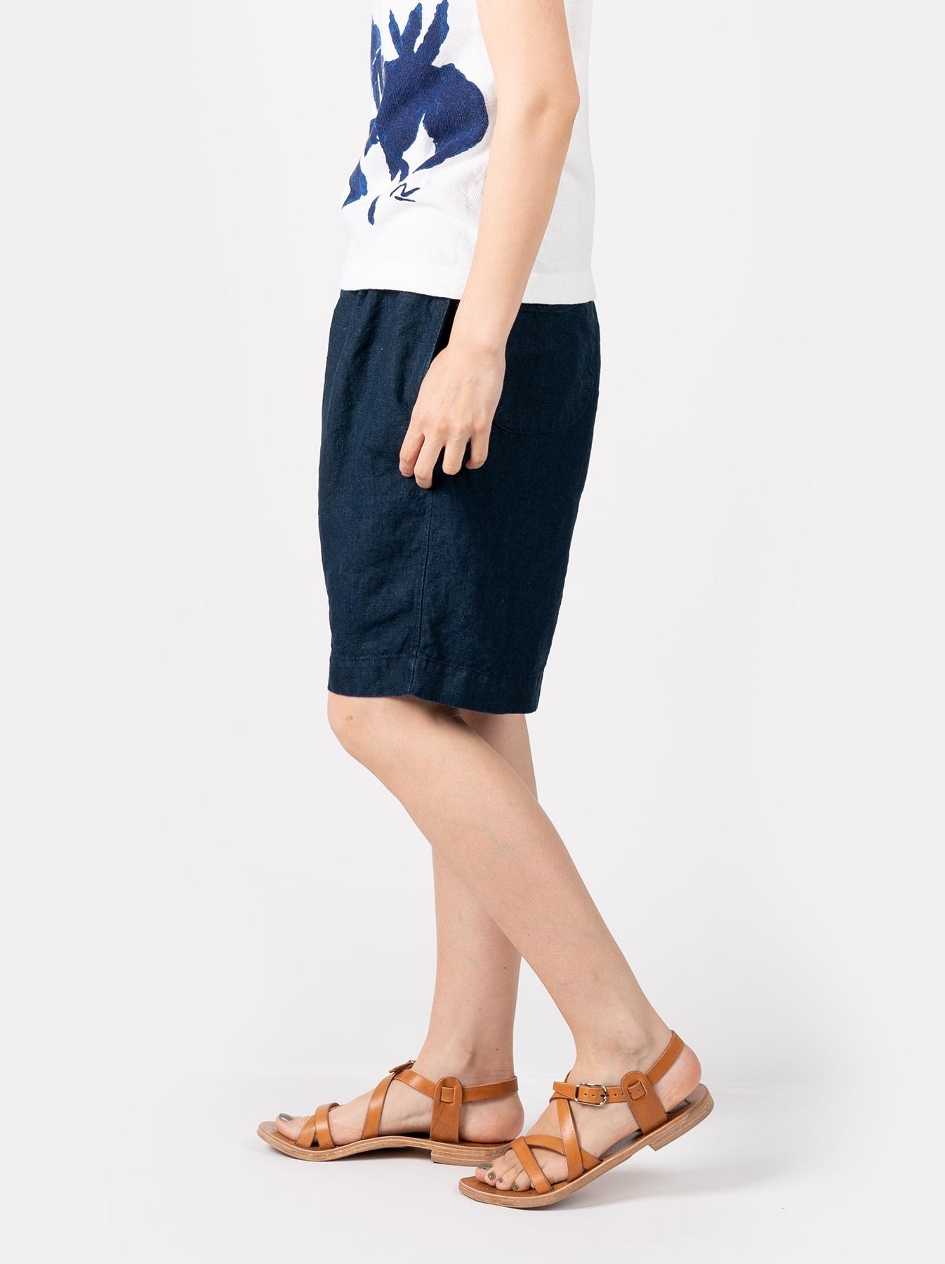 WH Indigo Doek Majotae Umiiloha 908 Short Pants-4