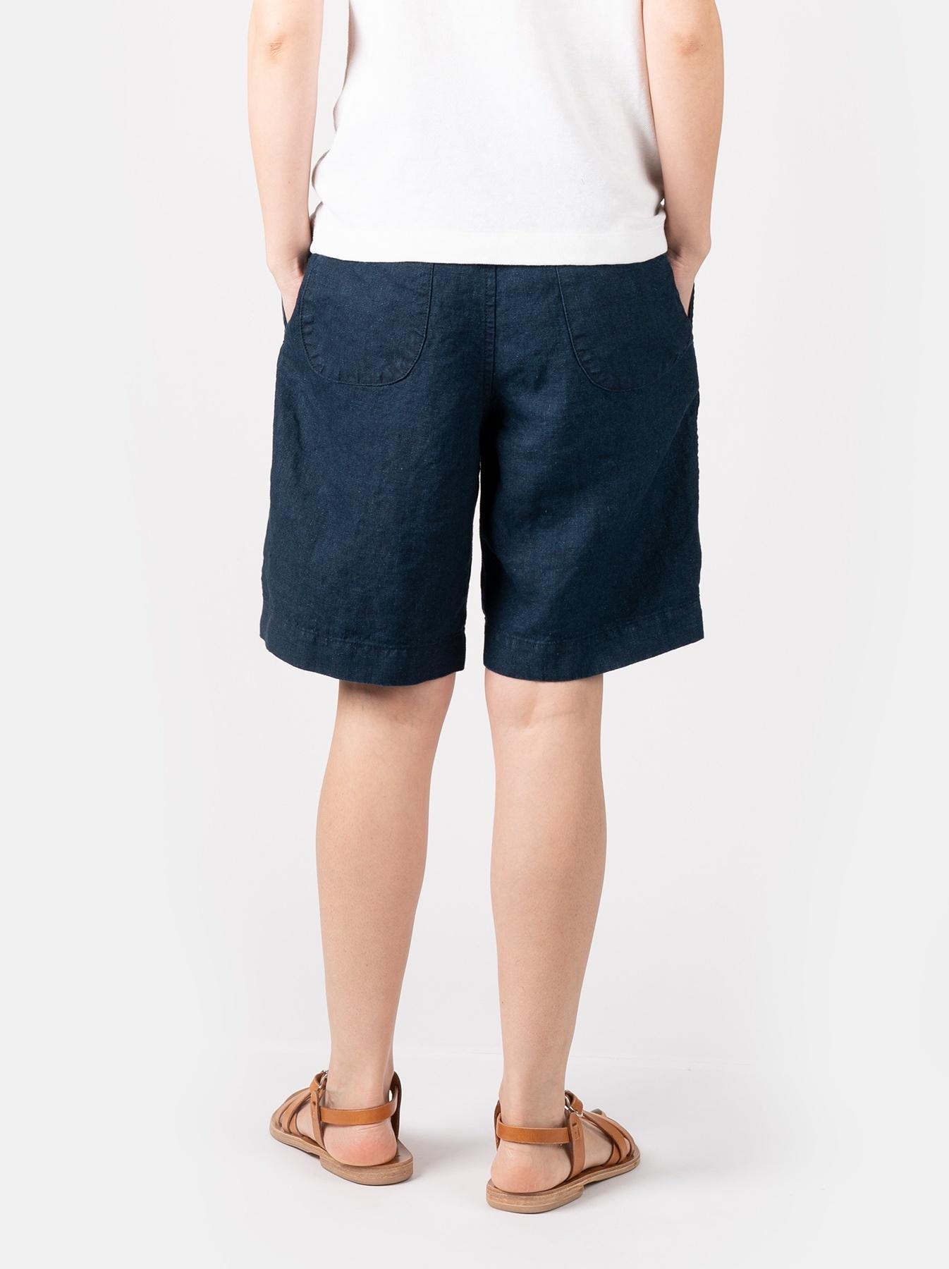 WH Indigo Doek Majotae Umiiloha 908 Short Pants-5