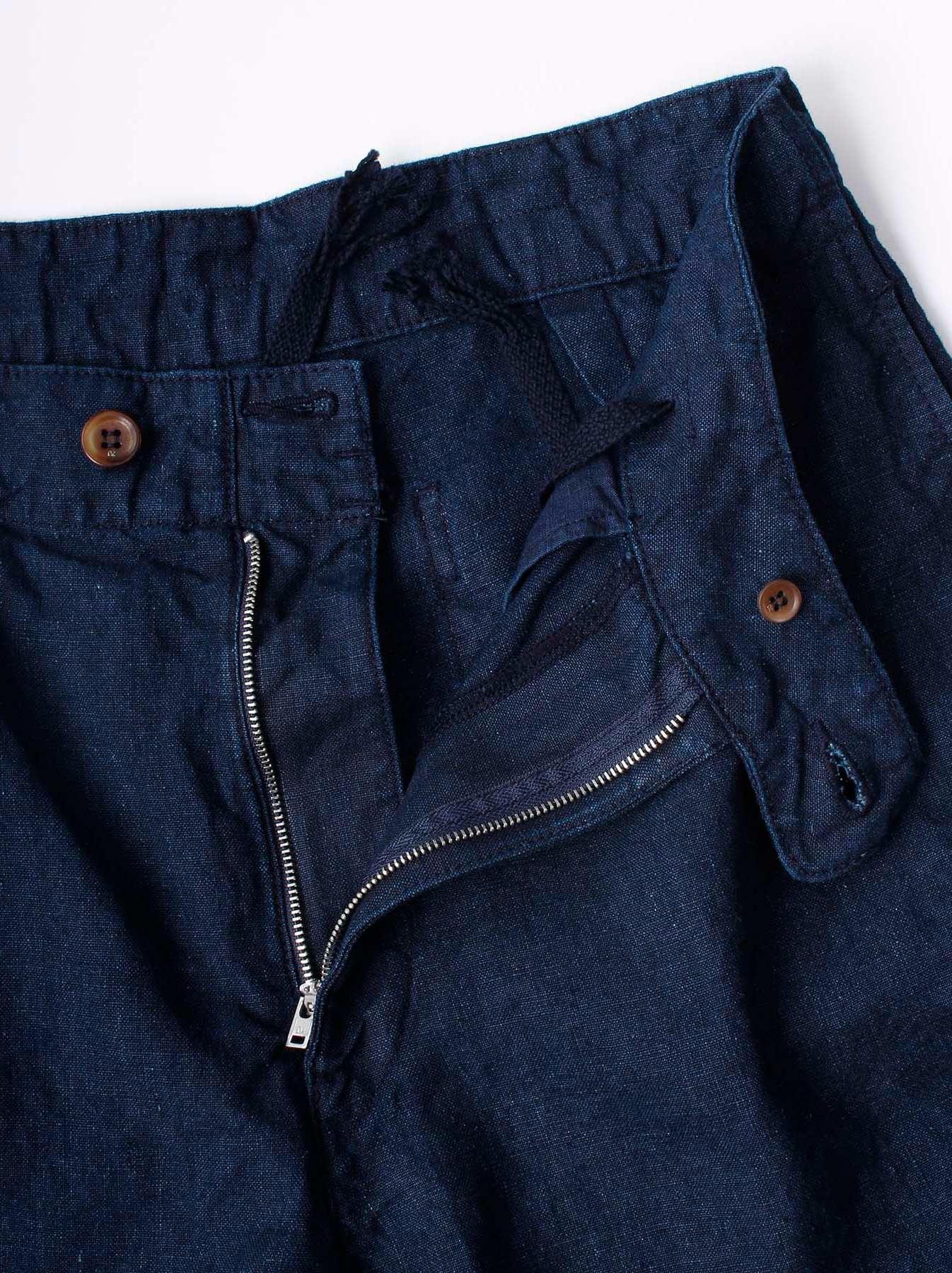 WH Indigo Doek Majotae Umiiloha 908 Short Pants-8