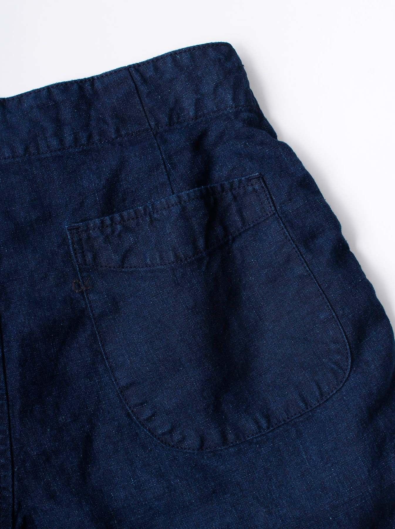 WH Indigo Doek Majotae Umiiloha 908 Short Pants-9