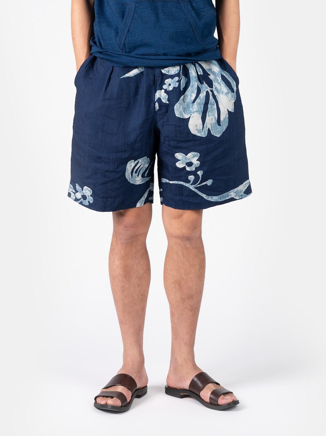 WH Indigo Linen Umiiloha 908 Short Pants-3