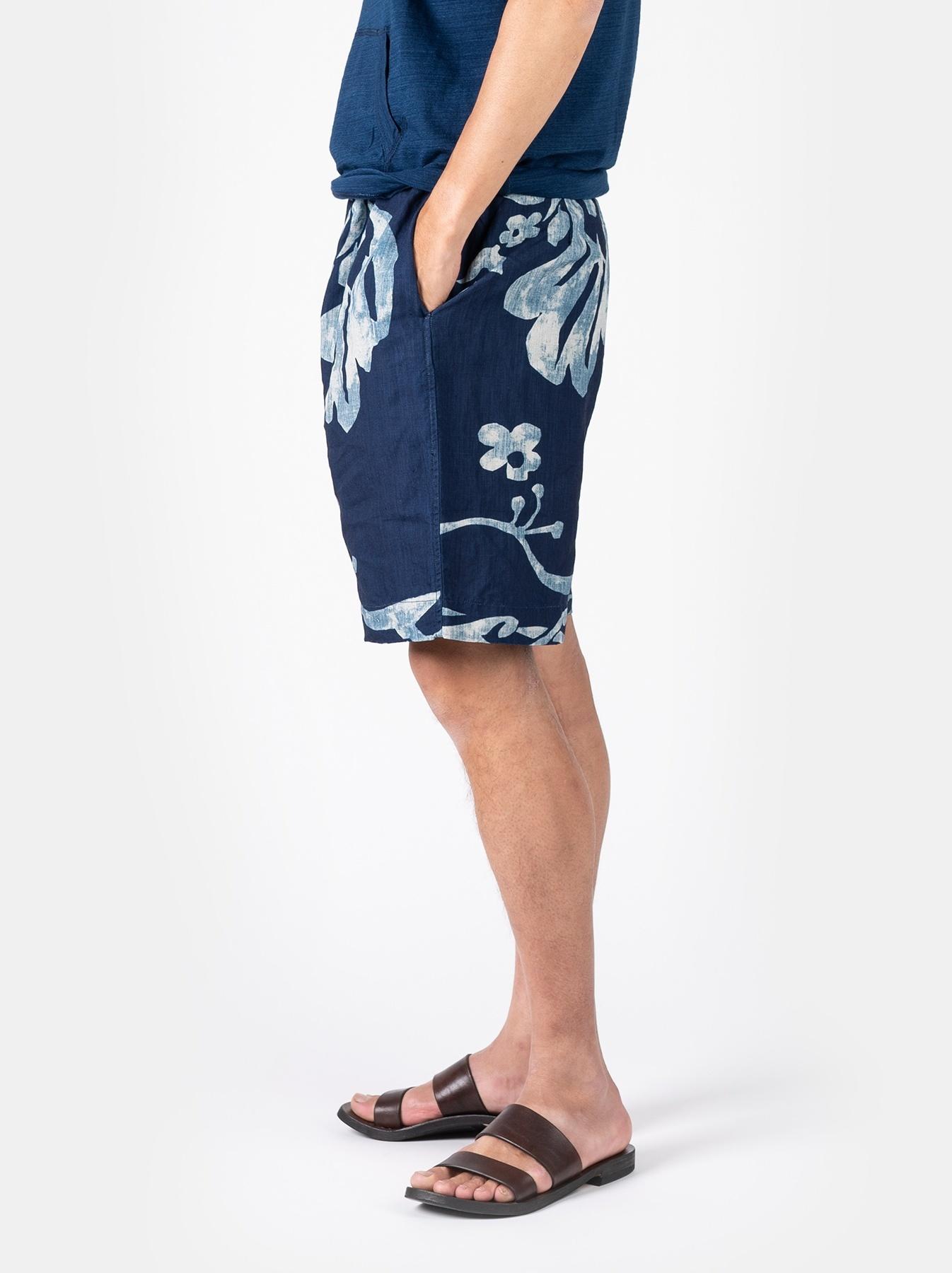WH Indigo Linen Umiiloha 908 Short Pants-4
