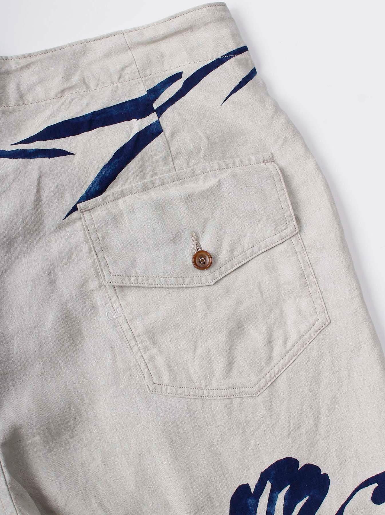WH Indigo Linen Umiiloha 908 Short Pants-12
