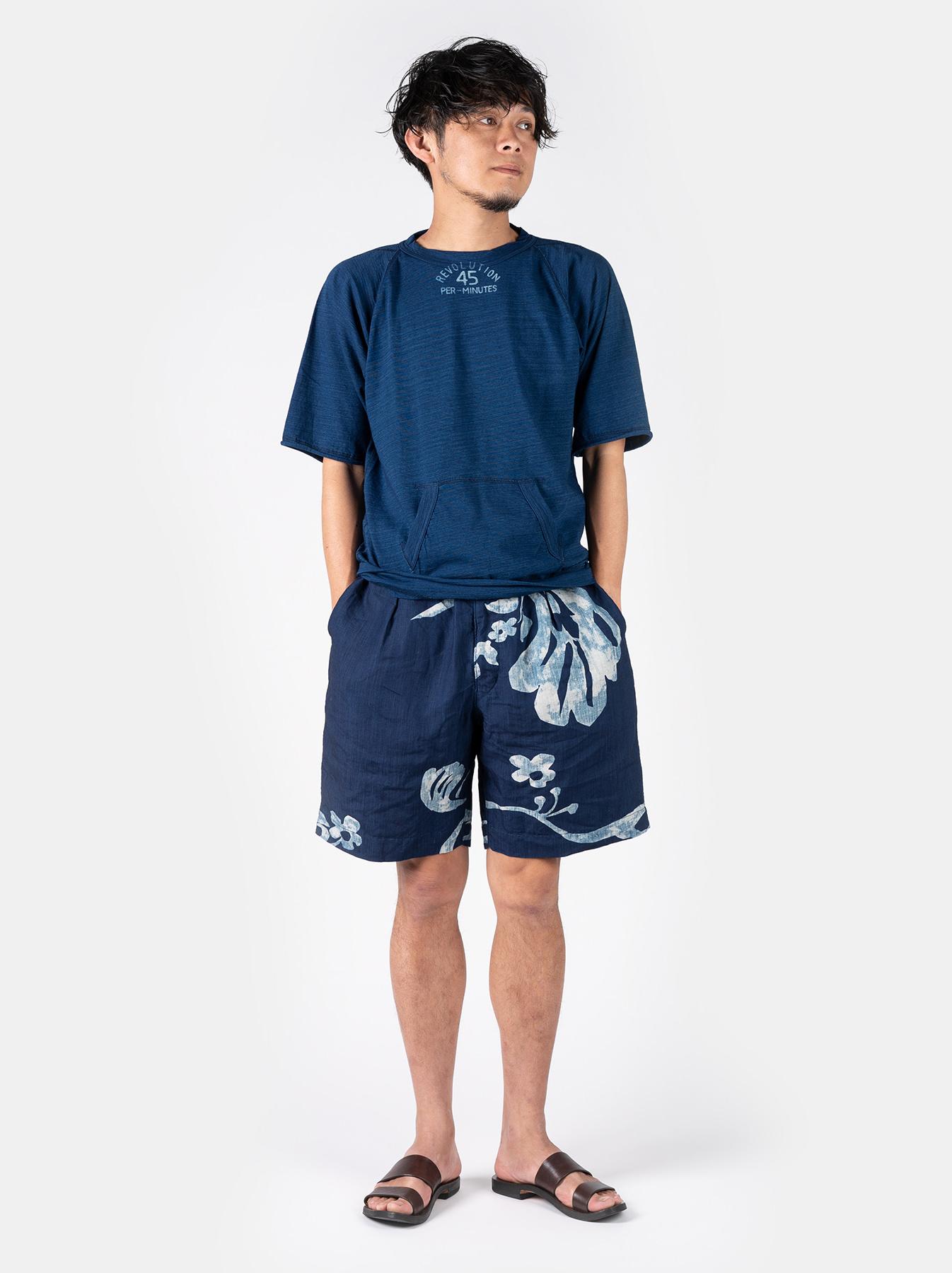 WH Indigo Linen Umiiloha 908 Short Pants-2