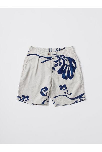 WH Indigo Linen Umiiloha 908 Short Pants