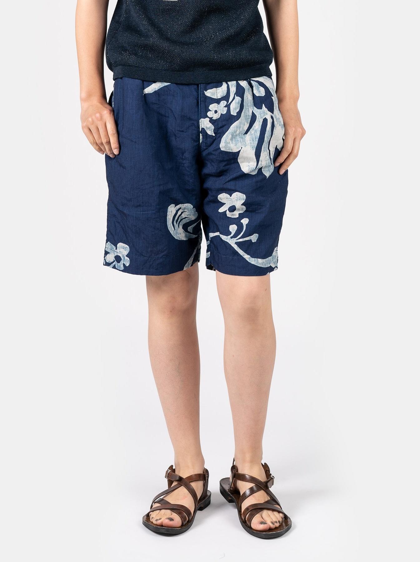 WH Indigo Linen Umiiloha 908 Short Pants-7