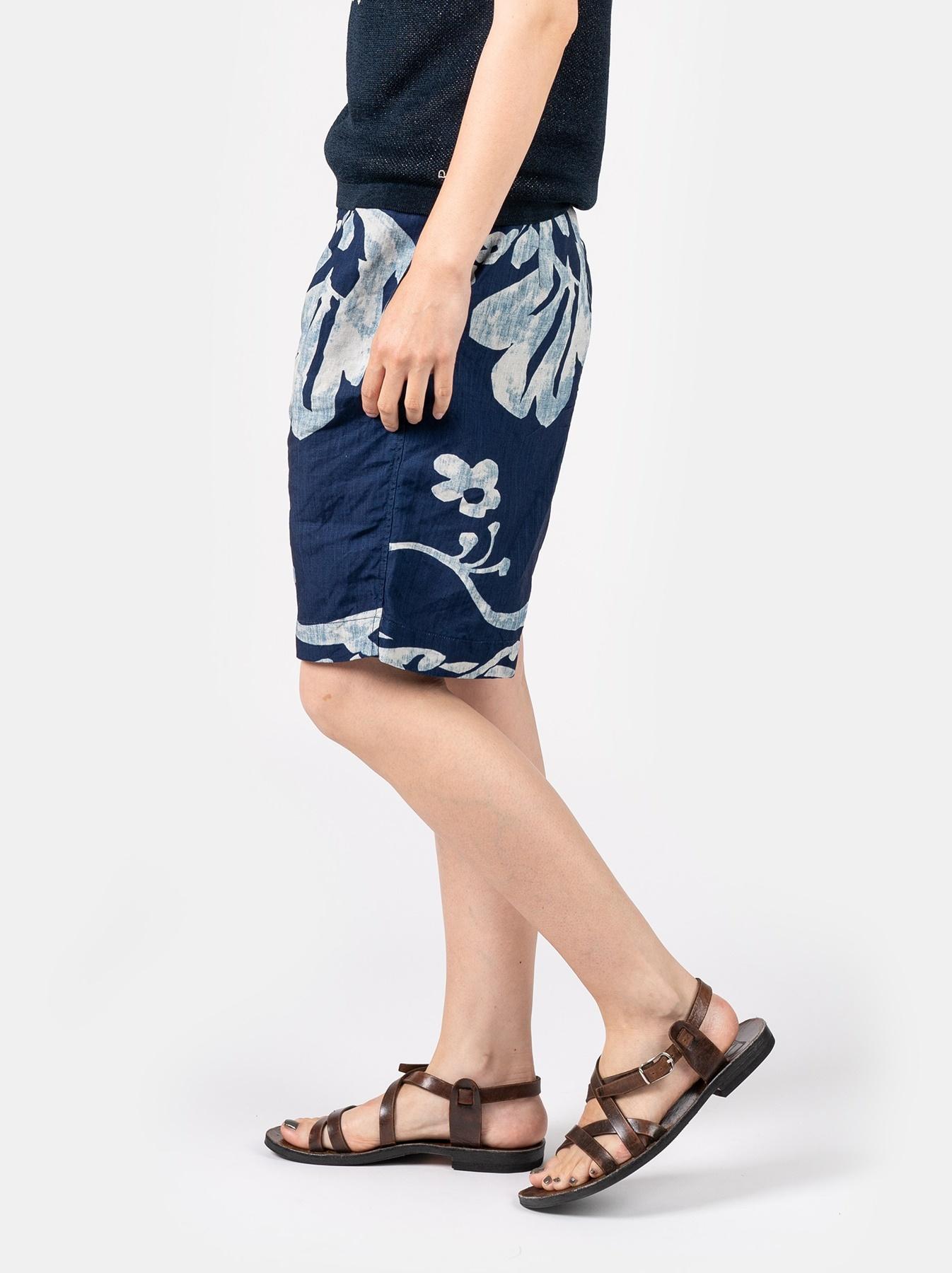 WH Indigo Linen Umiiloha 908 Short Pants-8