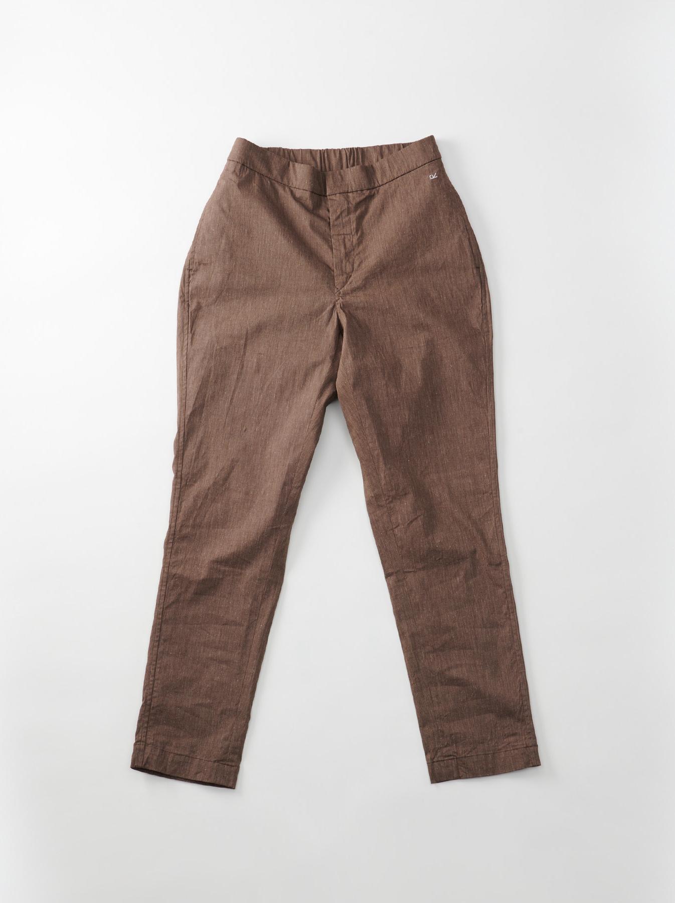 WH Cotton Linen Hakeme Stretch Pants-6