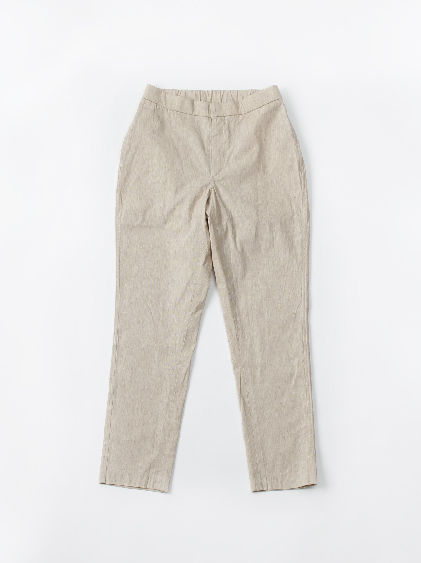 WH Cotton Linen Hakeme Stretch Pants-1