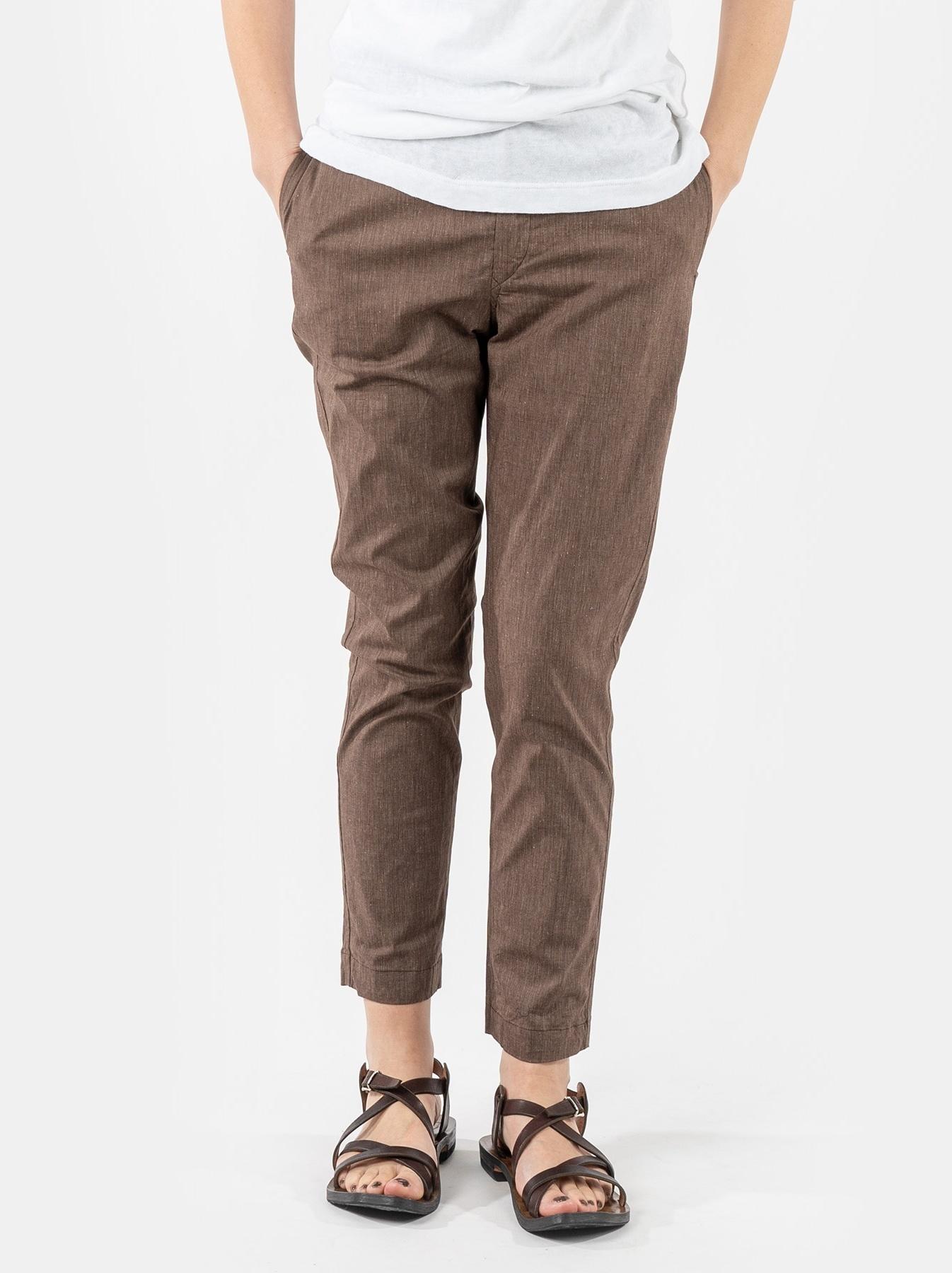 WH Cotton Linen Hakeme Stretch Pants-3