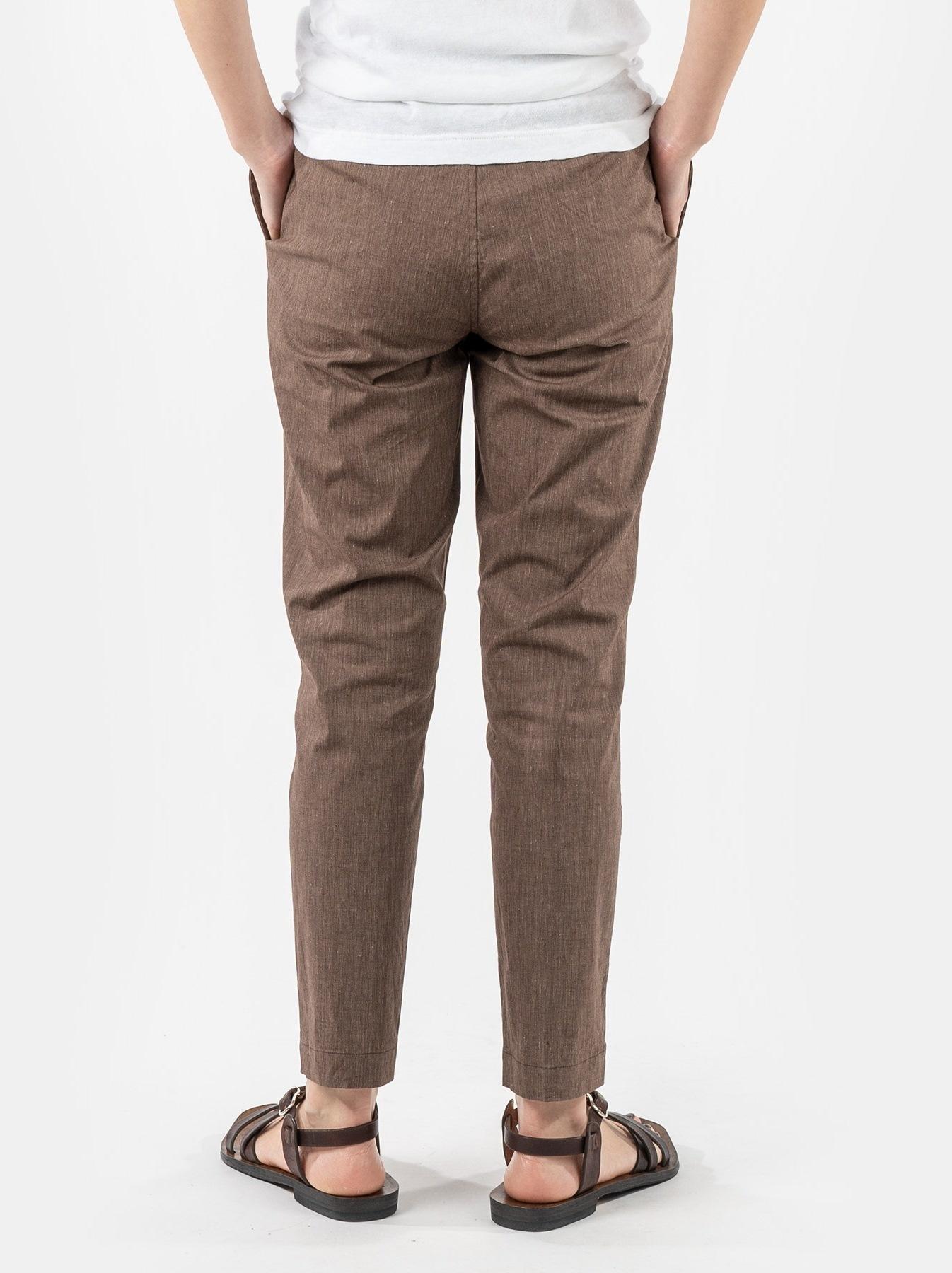 WH Cotton Linen Hakeme Stretch Pants-5