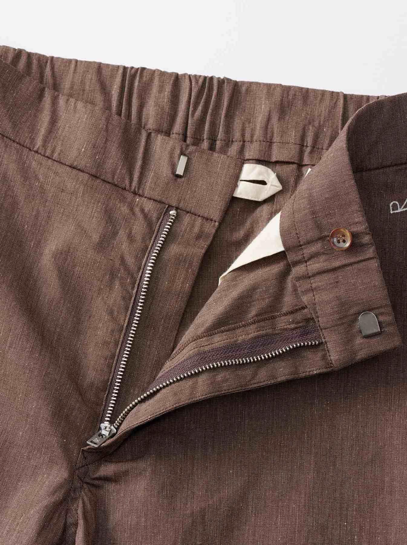 WH Cotton Linen Hakeme Stretch Pants-7