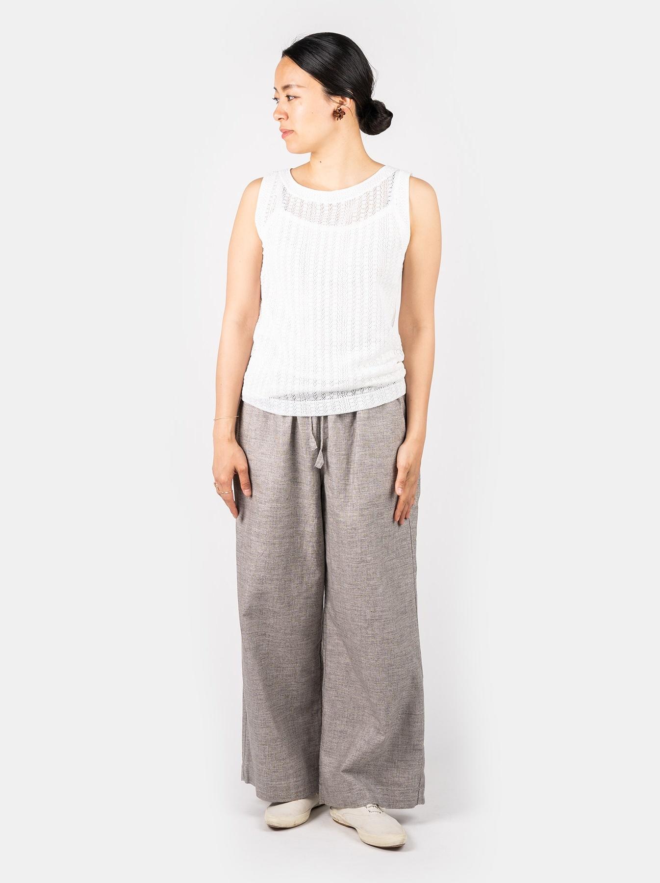 WH Gima Knit Lace Sleeveless Top-2