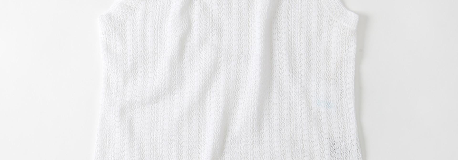 WH Gima Knit Lace Sleeveless Top