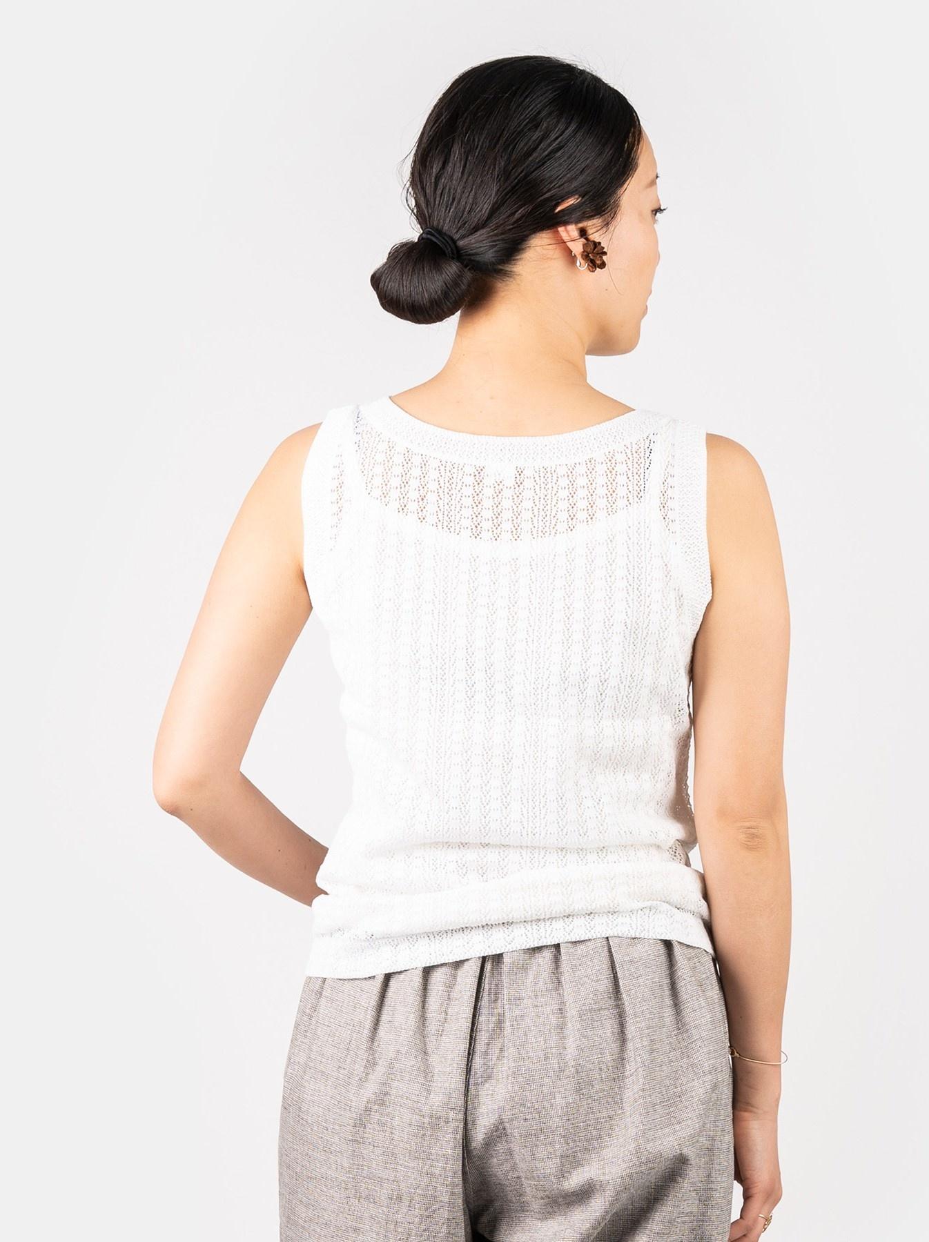 WH Gima Knit Lace Sleeveless Top-5