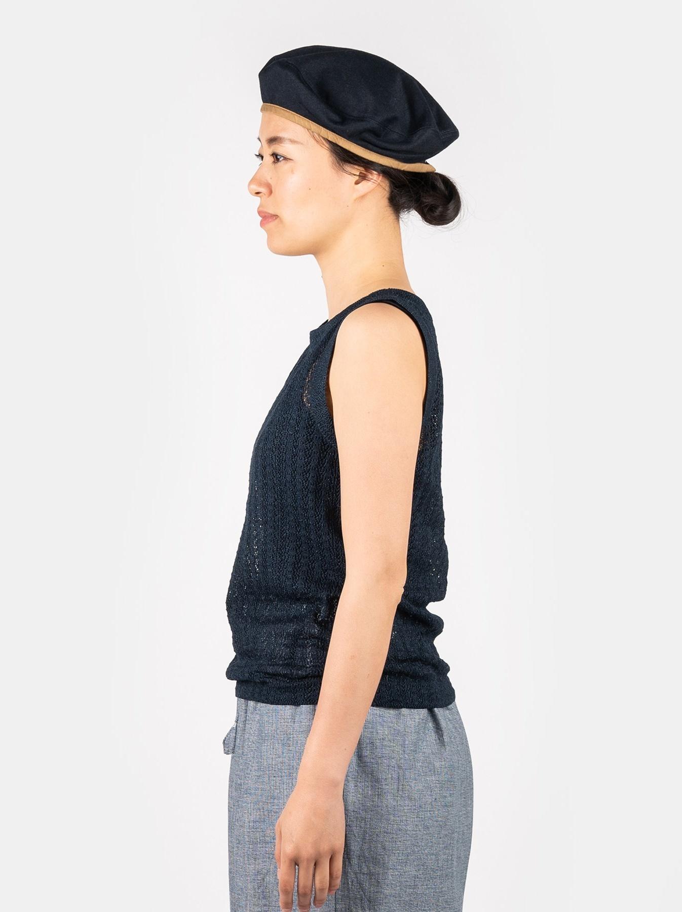 WH Indigo Gima Knit Lace Sleeveless Top-4