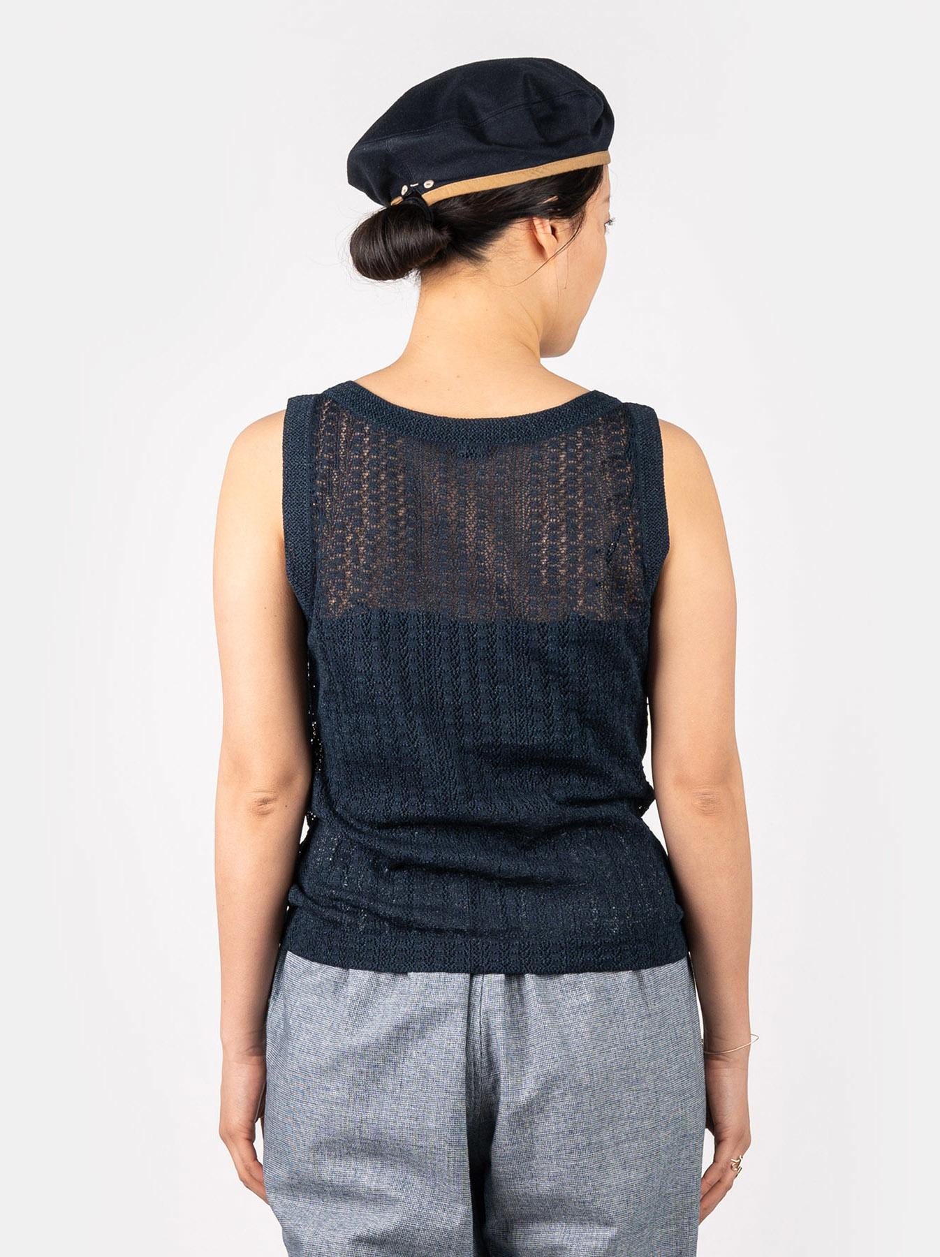 WH Indigo Gima Knit Lace Sleeveless Top-5