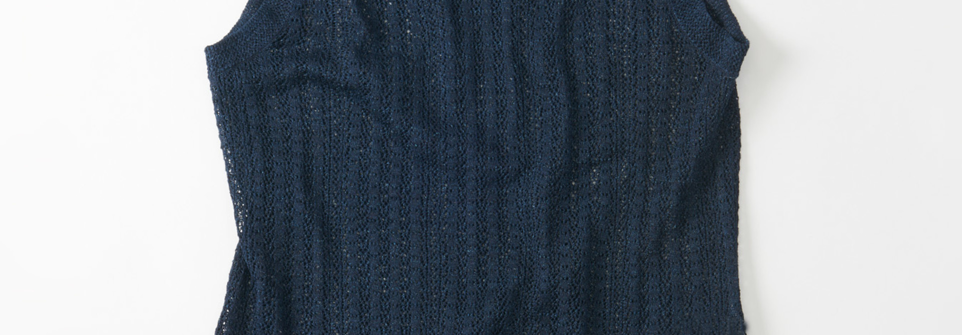 WH Indigo Gima Knit Lace Sleeveless Top