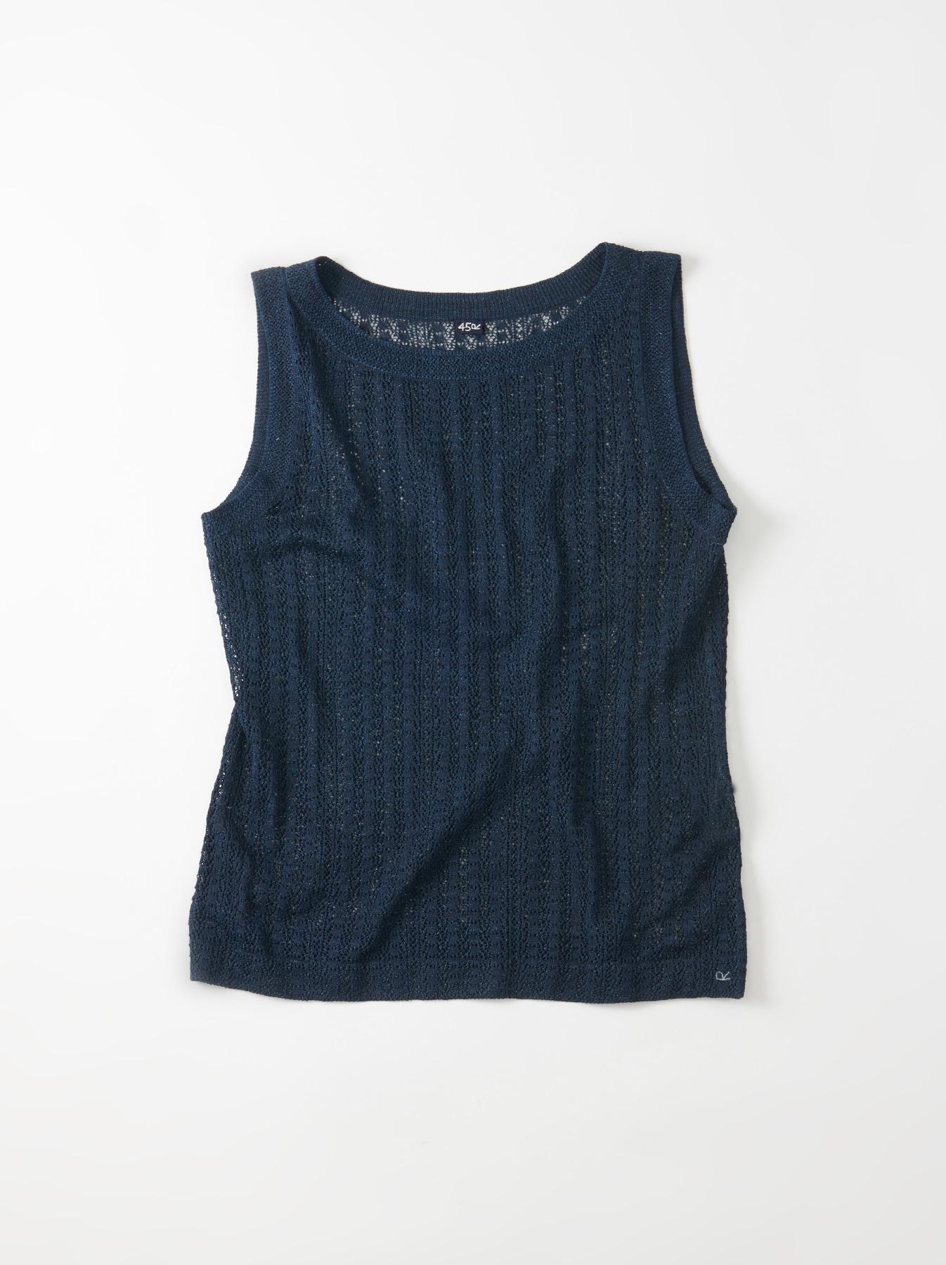 WH Indigo Gima Knit Lace Sleeveless Top-1