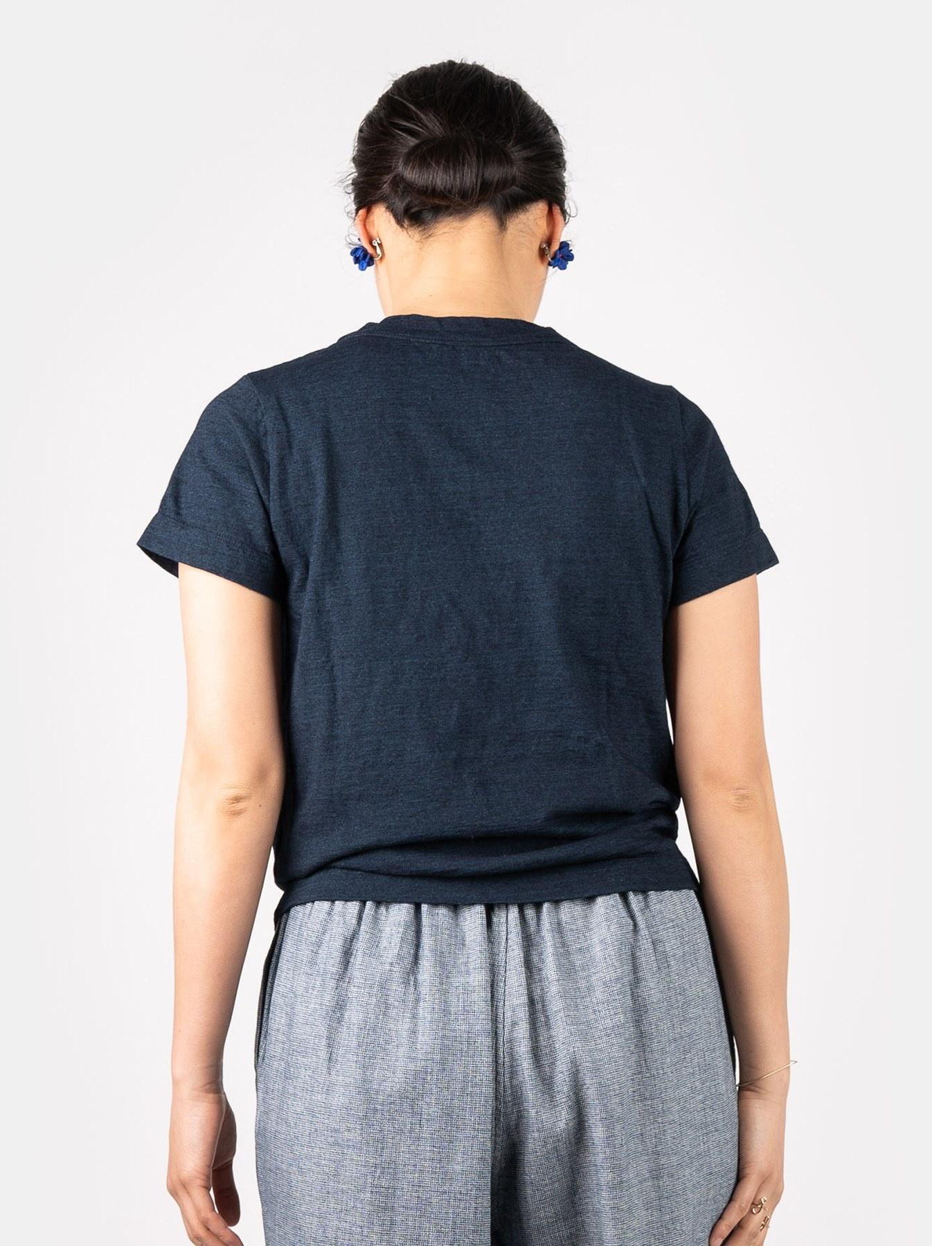 WH Indigo Corsage Flower 45 Star T-shirt-5