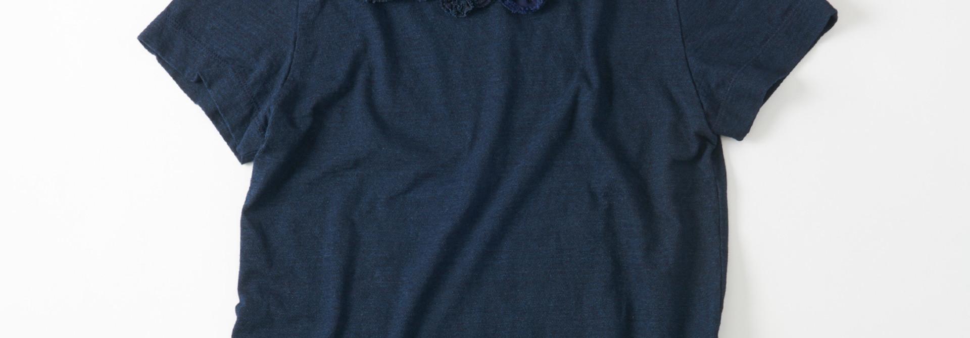 WH Indigo Corsage Flower 45 Star T-shirt