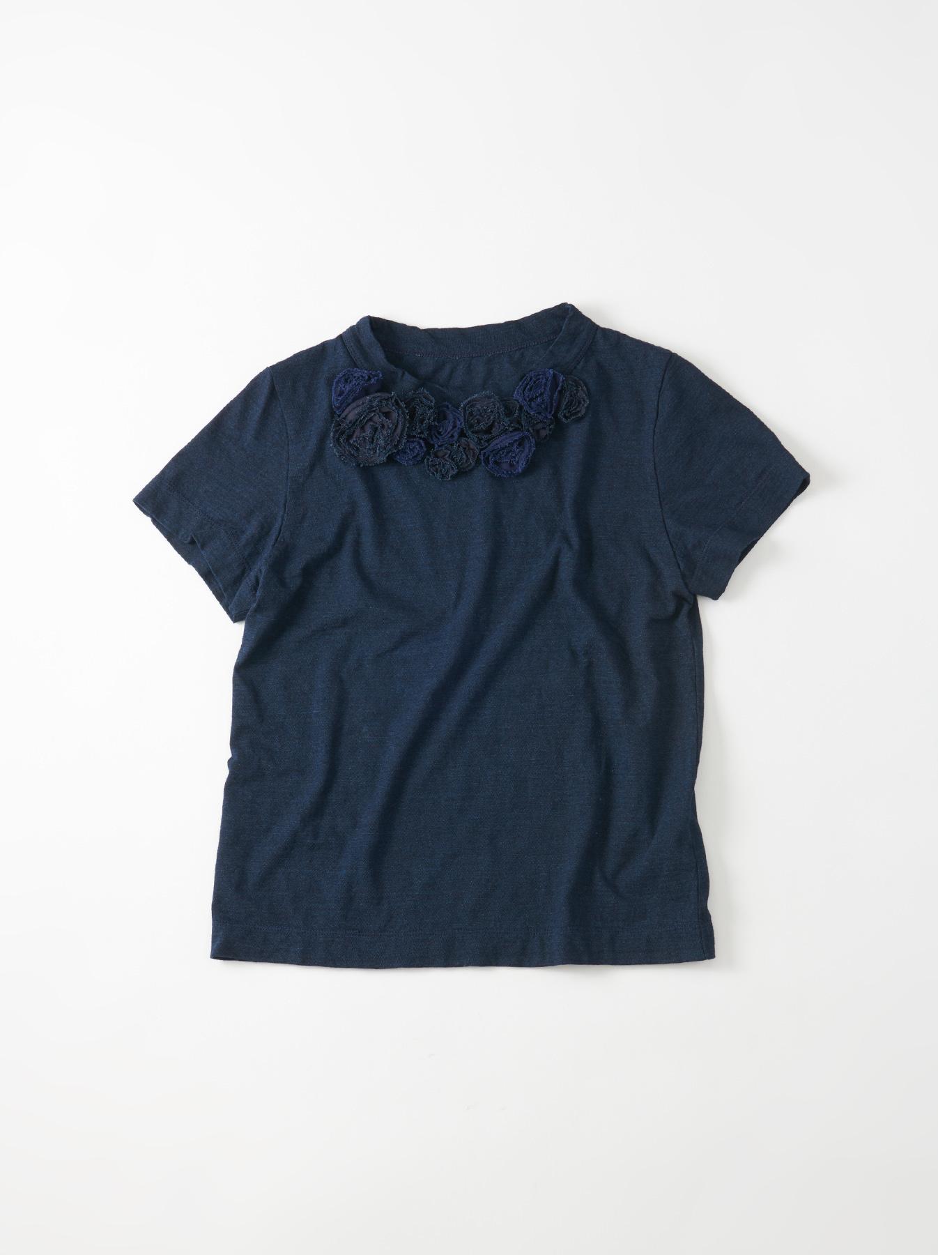 WH Indigo Corsage Flower 45 Star T-shirt-1