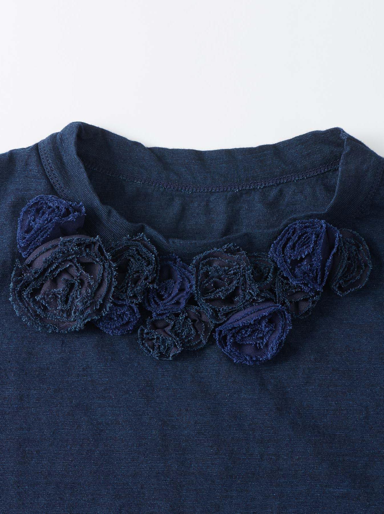 WH Indigo Corsage Flower 45 Star T-shirt-6