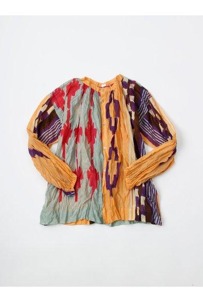 WH Feather Khadi Ikat Print Blouse