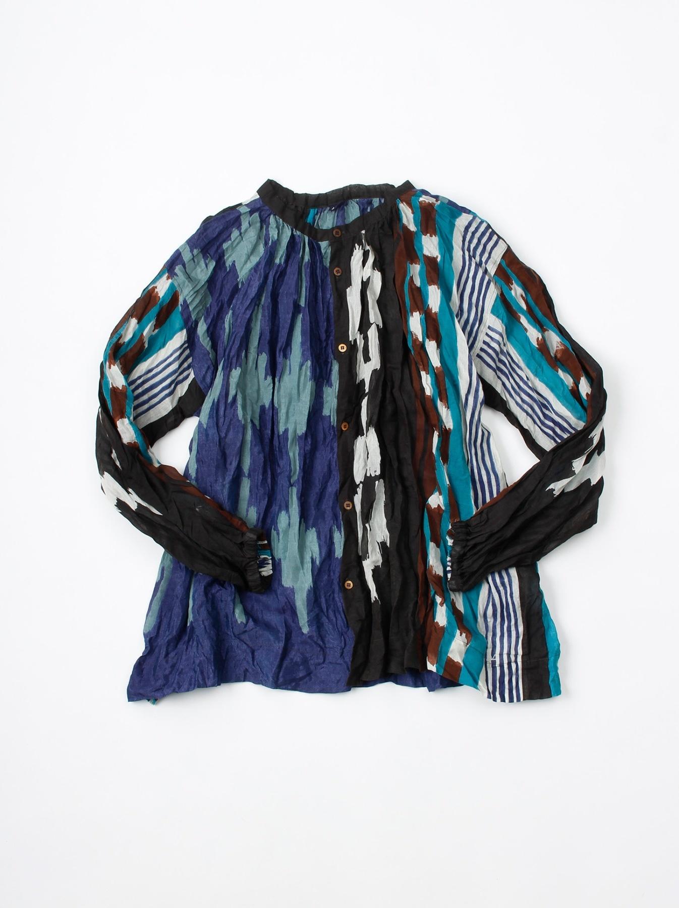 WH Feather Khadi Ikat Print Blouse-6
