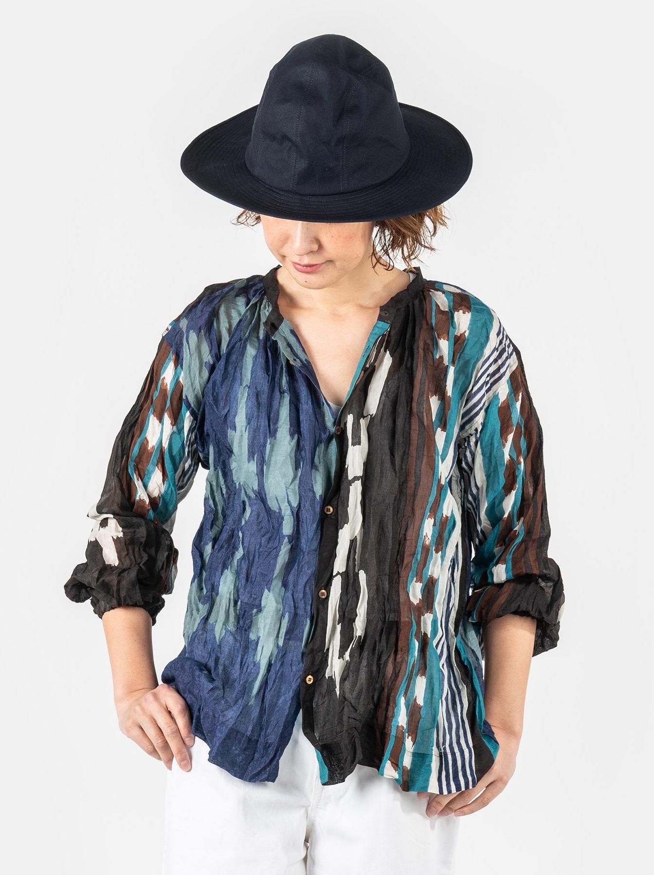 WH Feather Khadi Ikat Print Blouse-3