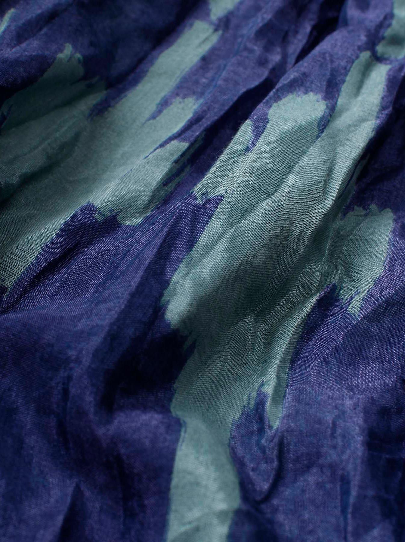 WH Feather Khadi Ikat Print Blouse-10