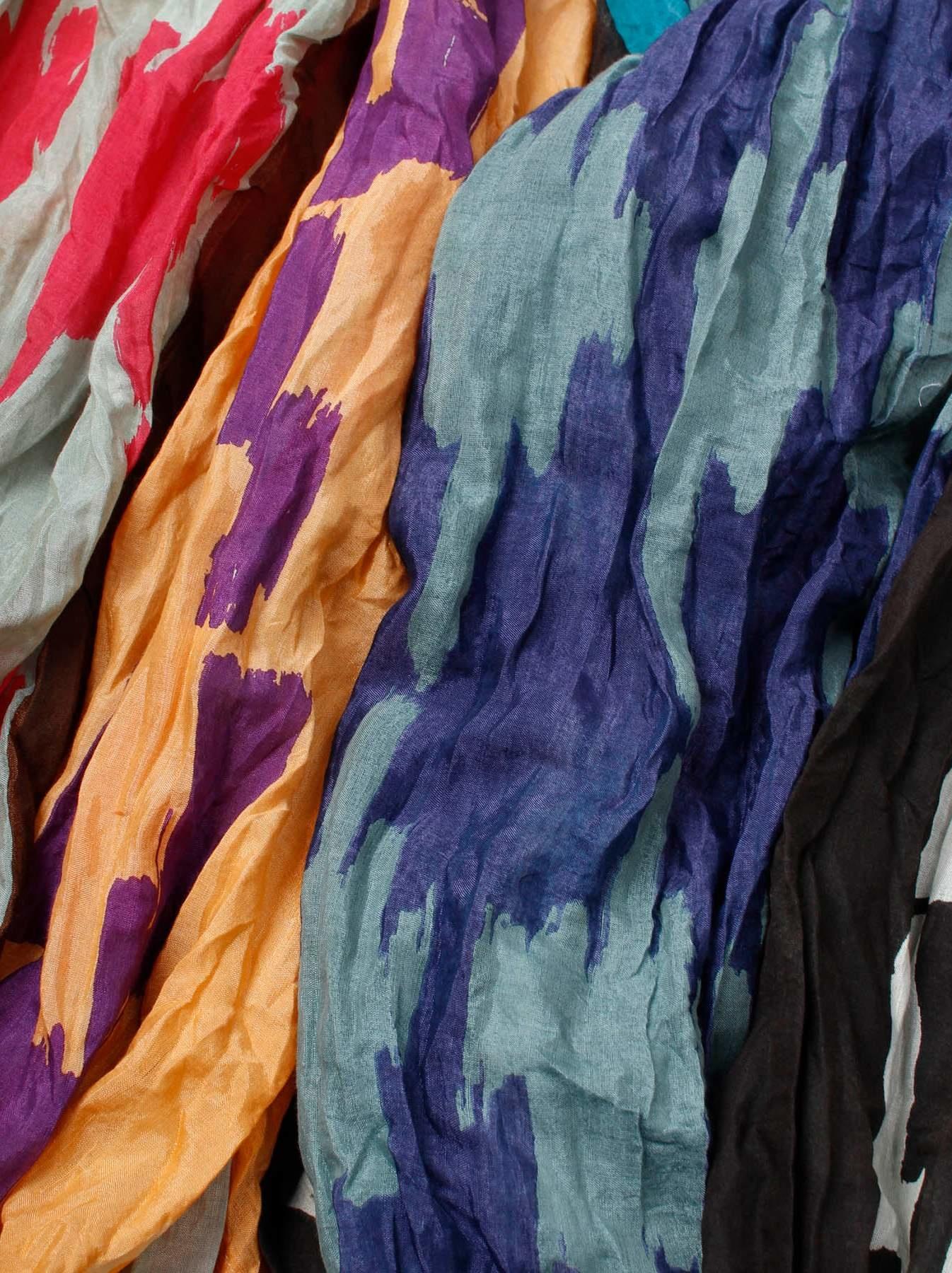 WH Feather Khadi Ikat Print Blouse-11
