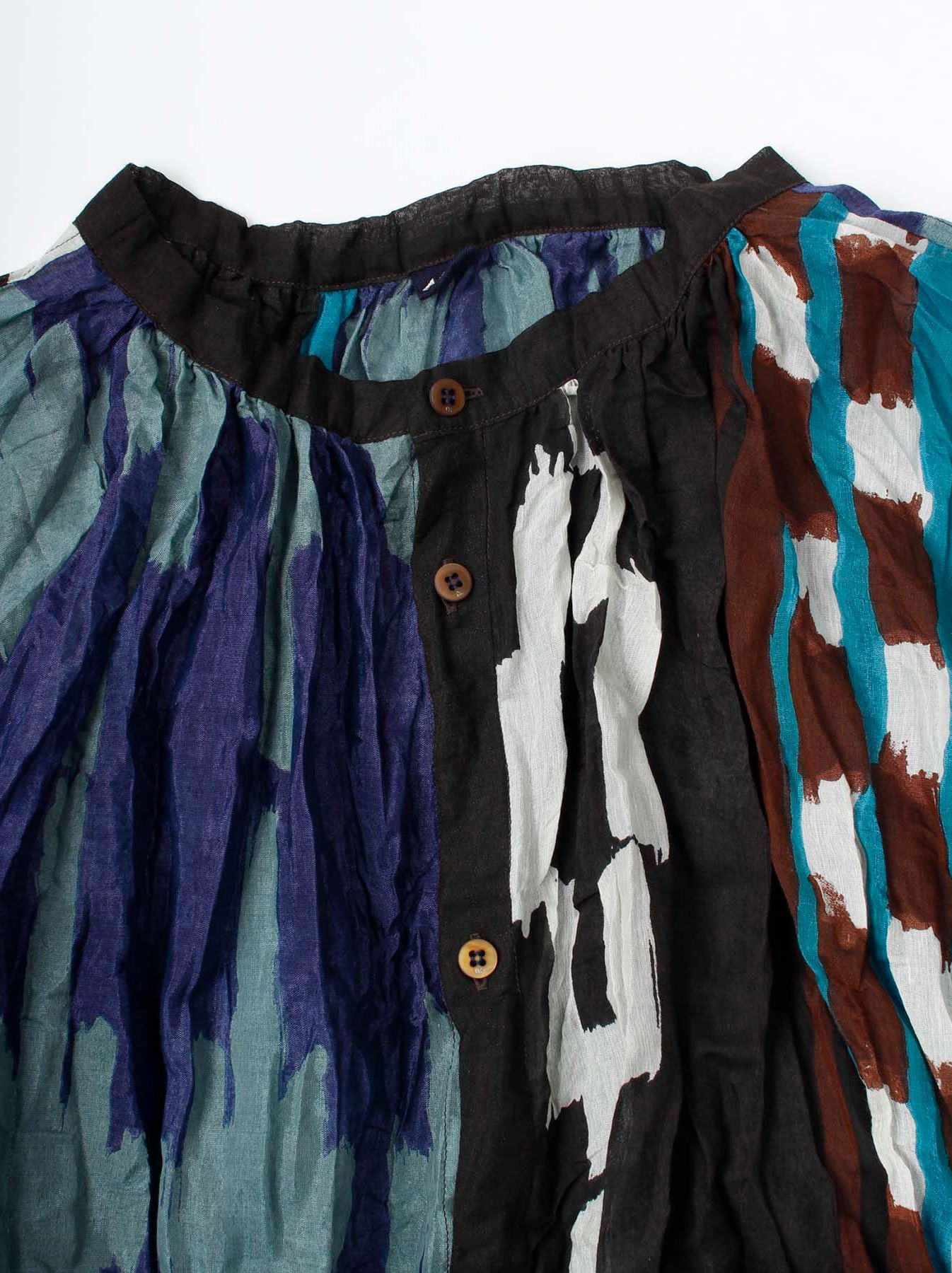 WH Feather Khadi Ikat Print Blouse-7