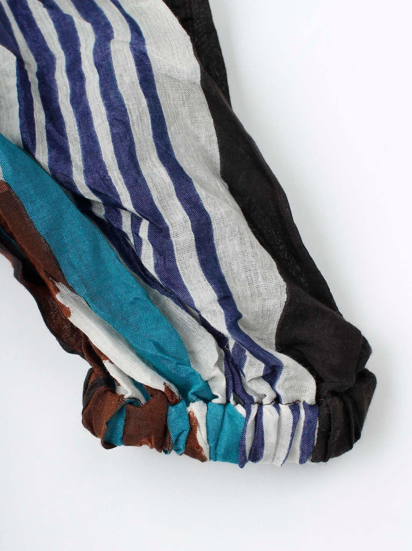 WH Feather Khadi Ikat Print Blouse-8