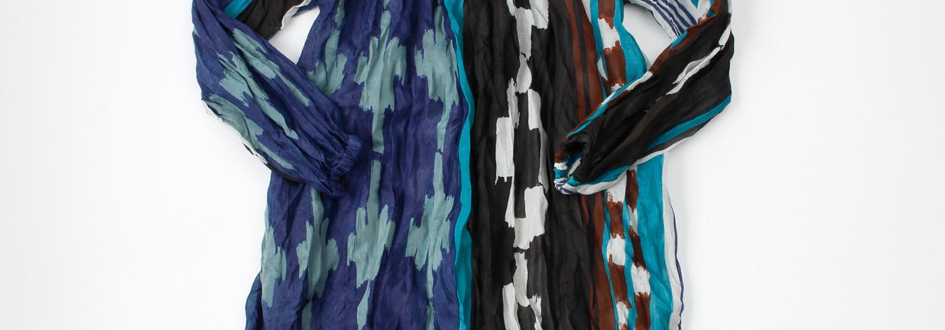 WH Feather Khadi Ikat Print Dress
