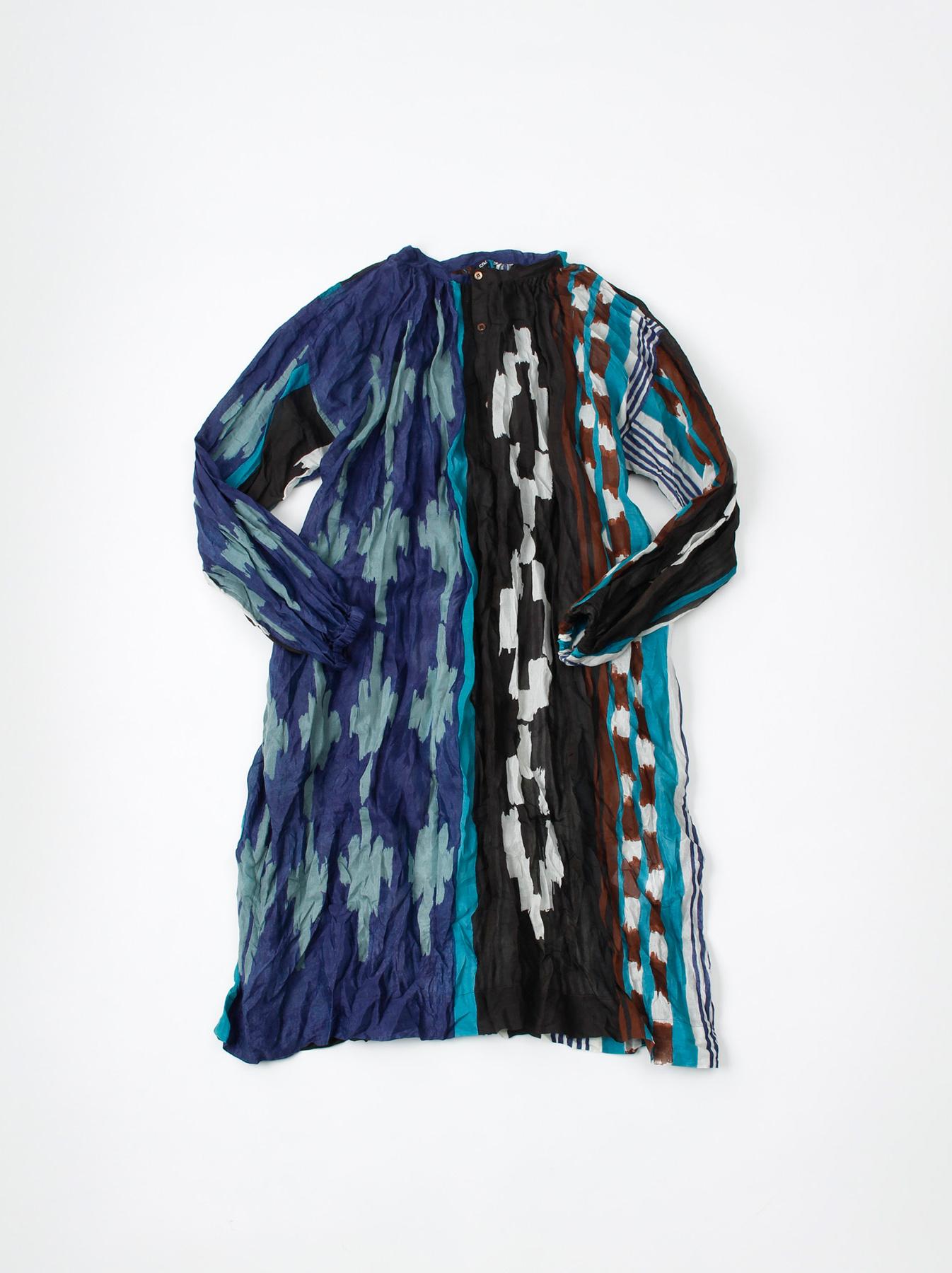 WH Feather Khadi Ikat Print Dress-1