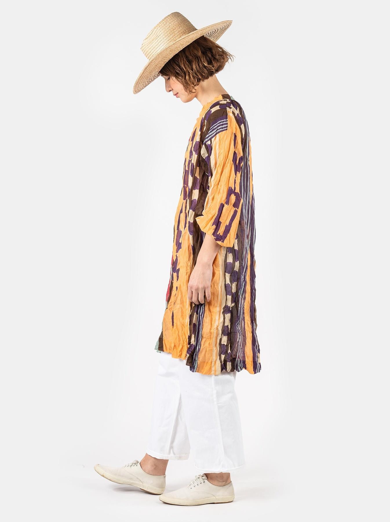 WH Feather Khadi Ikat Print Dress-3