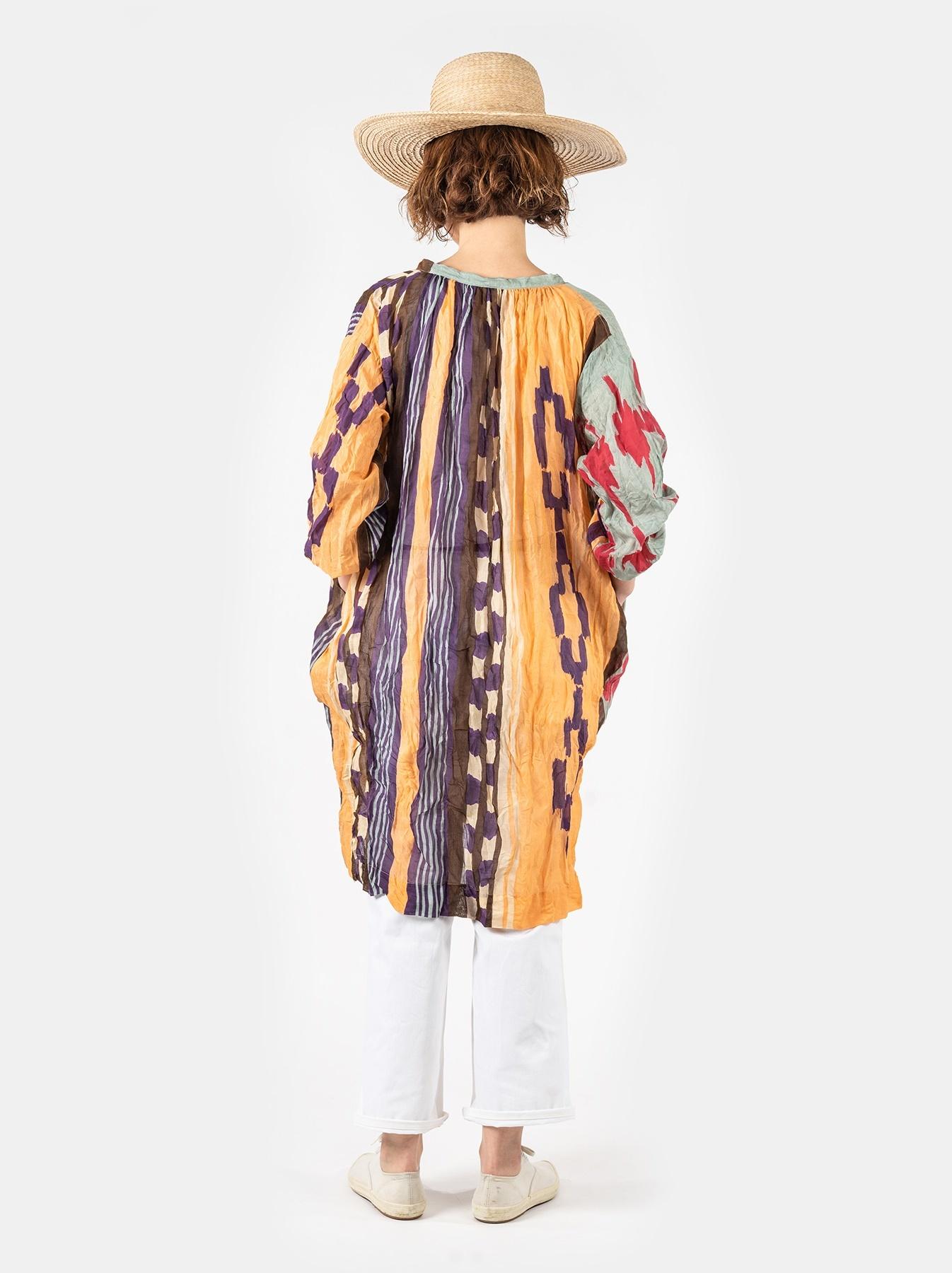 WH Feather Khadi Ikat Print Dress-4