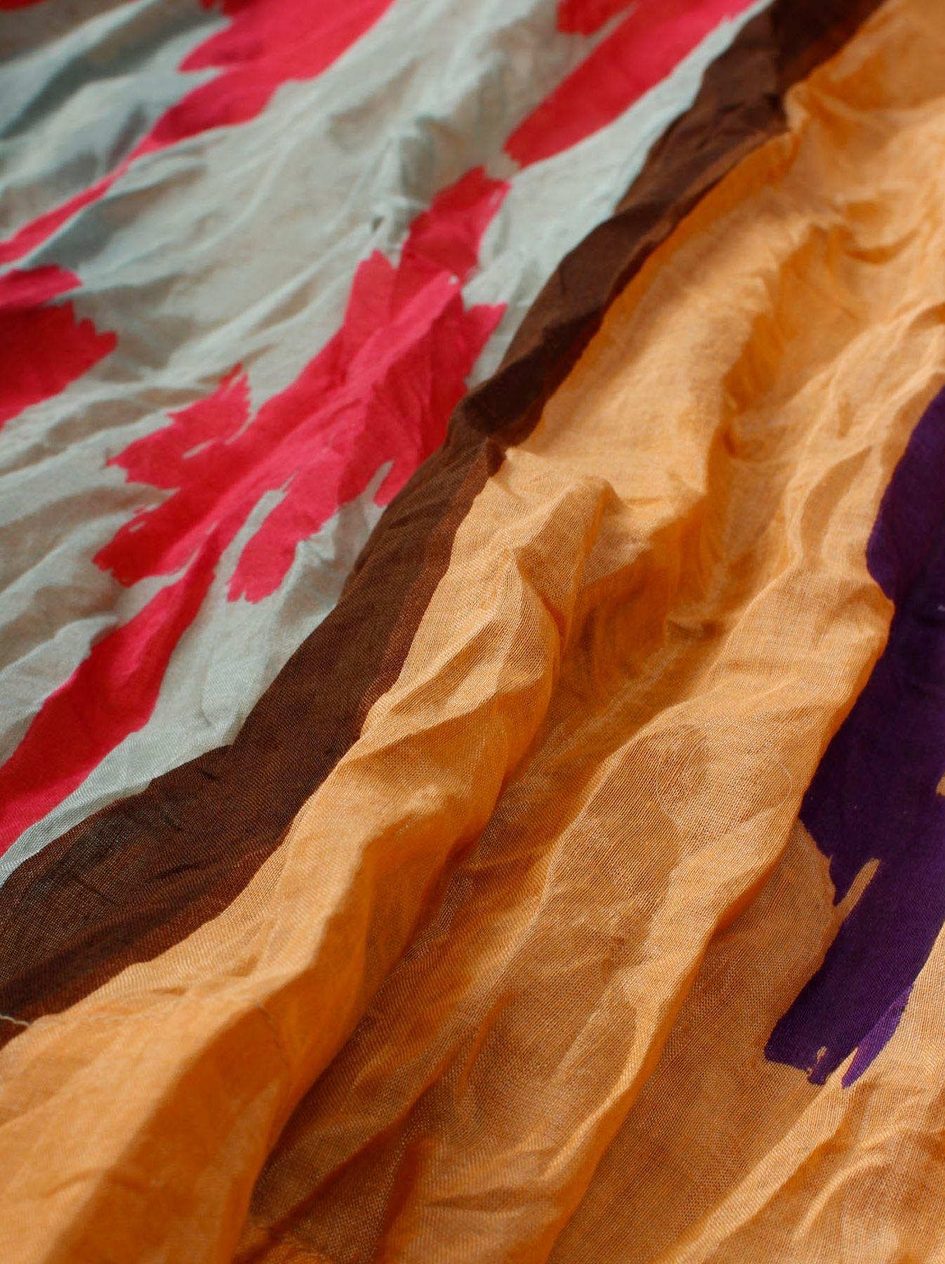 WH Feather Khadi Ikat Print Dress-6