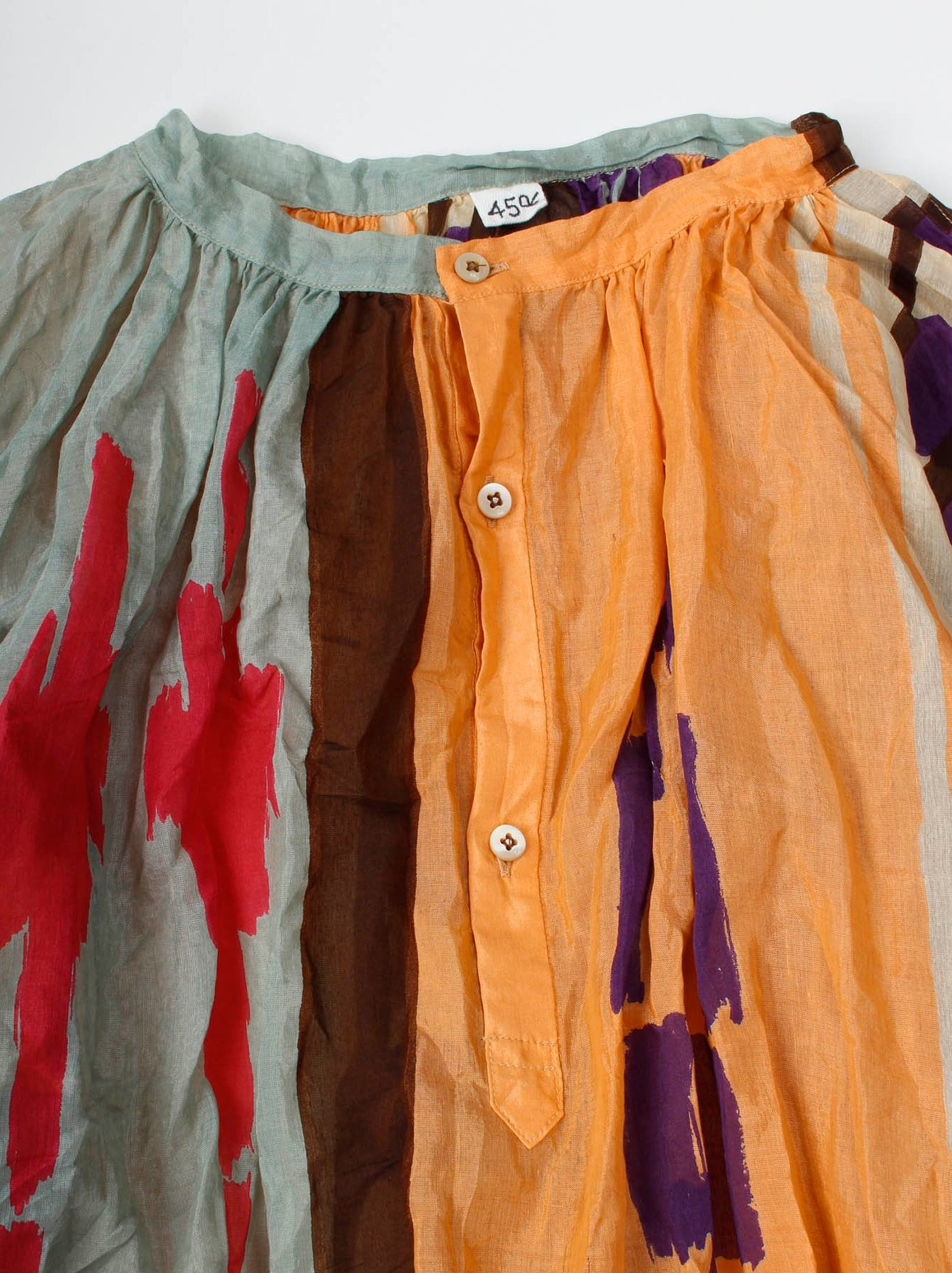 WH Feather Khadi Ikat Print Dress-7