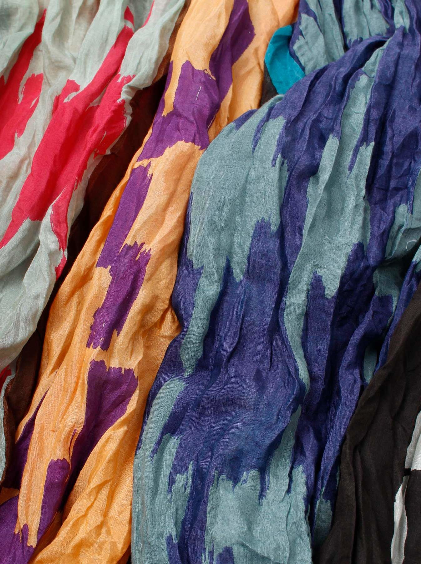 WH Feather Khadi Ikat Print Dress-9