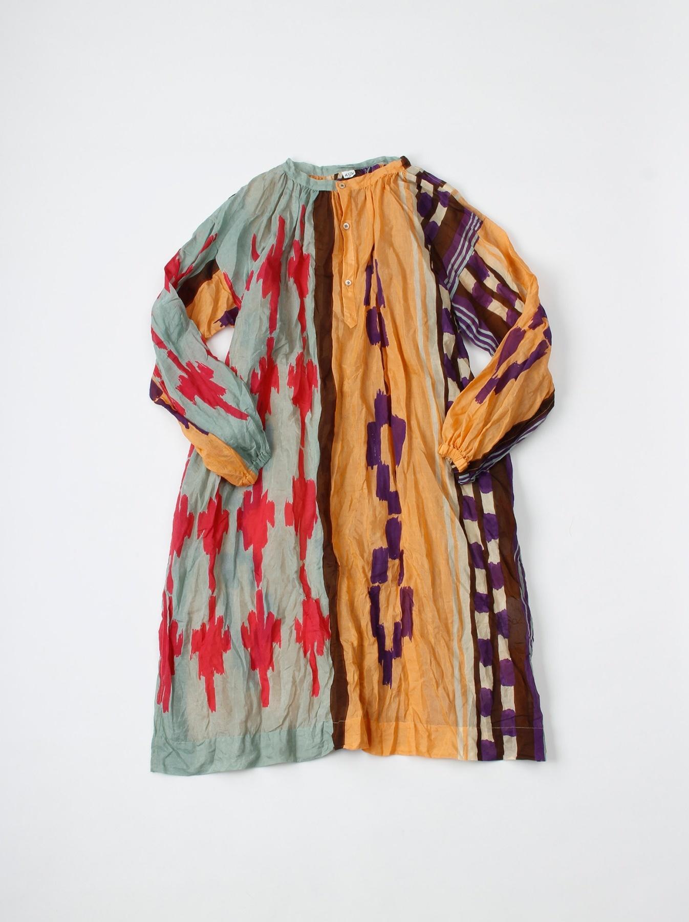 WH Feather Khadi Ikat Print Dress-5