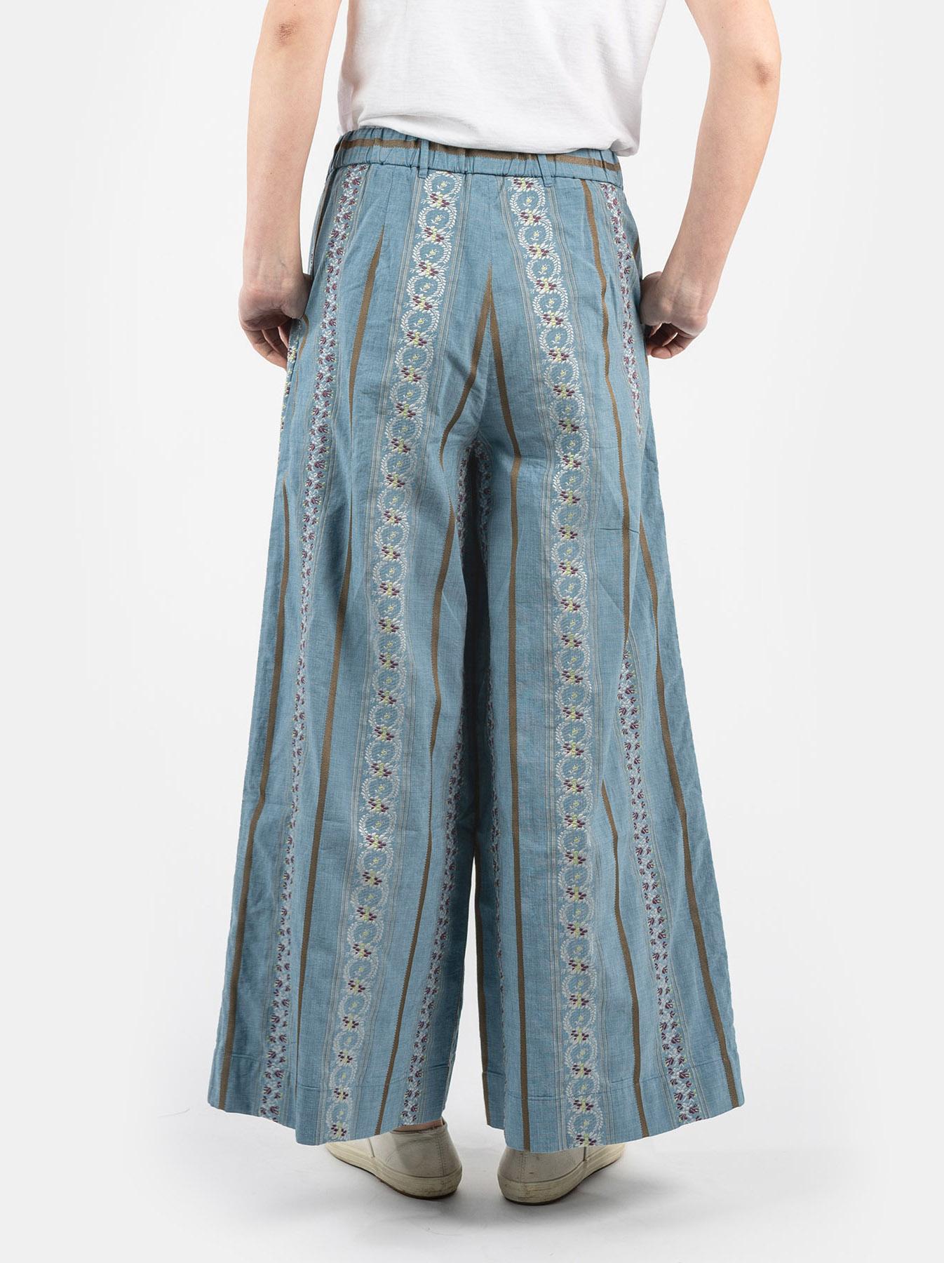 WH Hakeme Flower Jacquard Pants-5