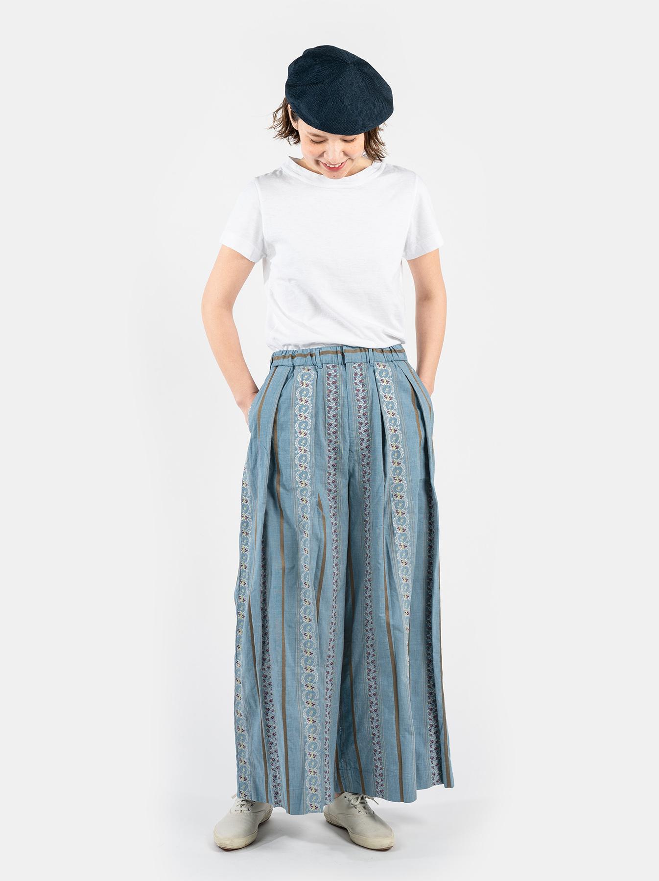 WH Hakeme Flower Jacquard Pants-2